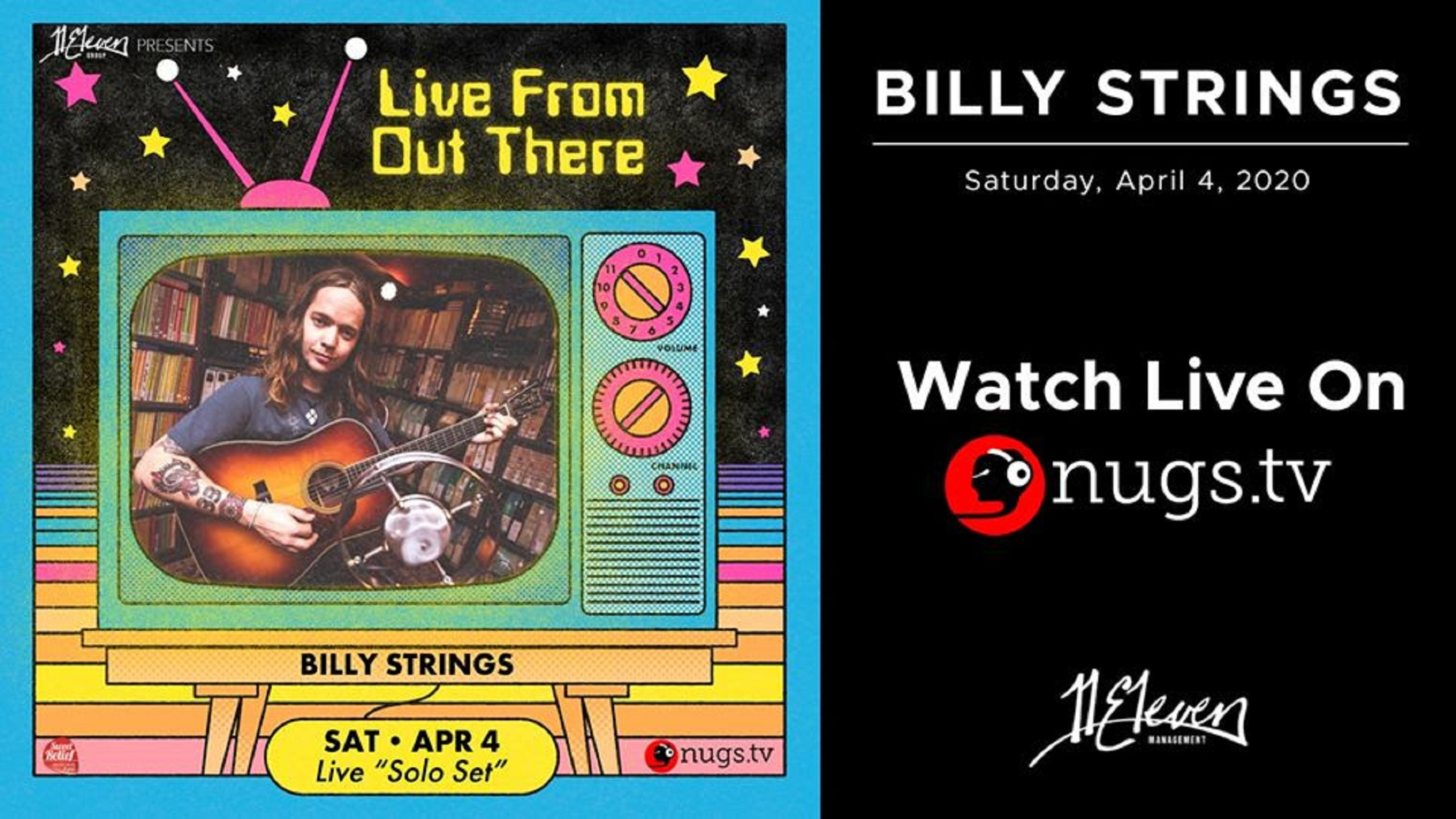 "Billy Strings plans epic 2+ hour long set for ""Live From Out There"" virtual festival"