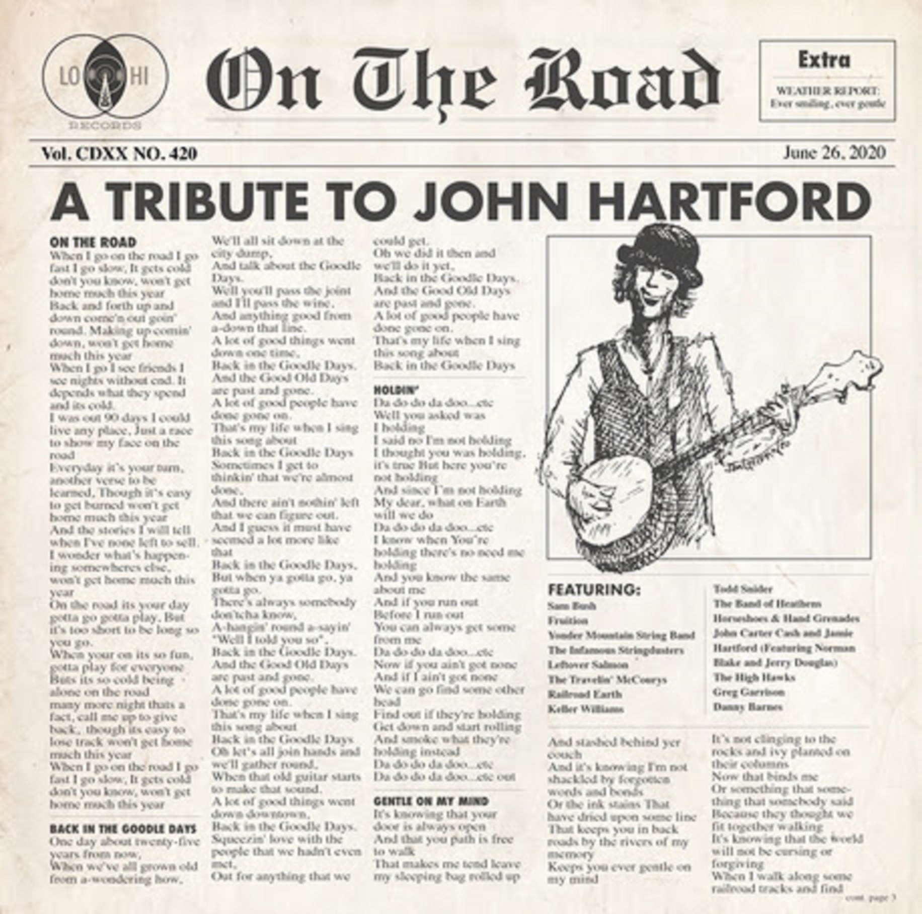 ON THE ROAD: A TRIBUTE TO JOHN HARTFORD to Benefit MusiCares - Out June 26th