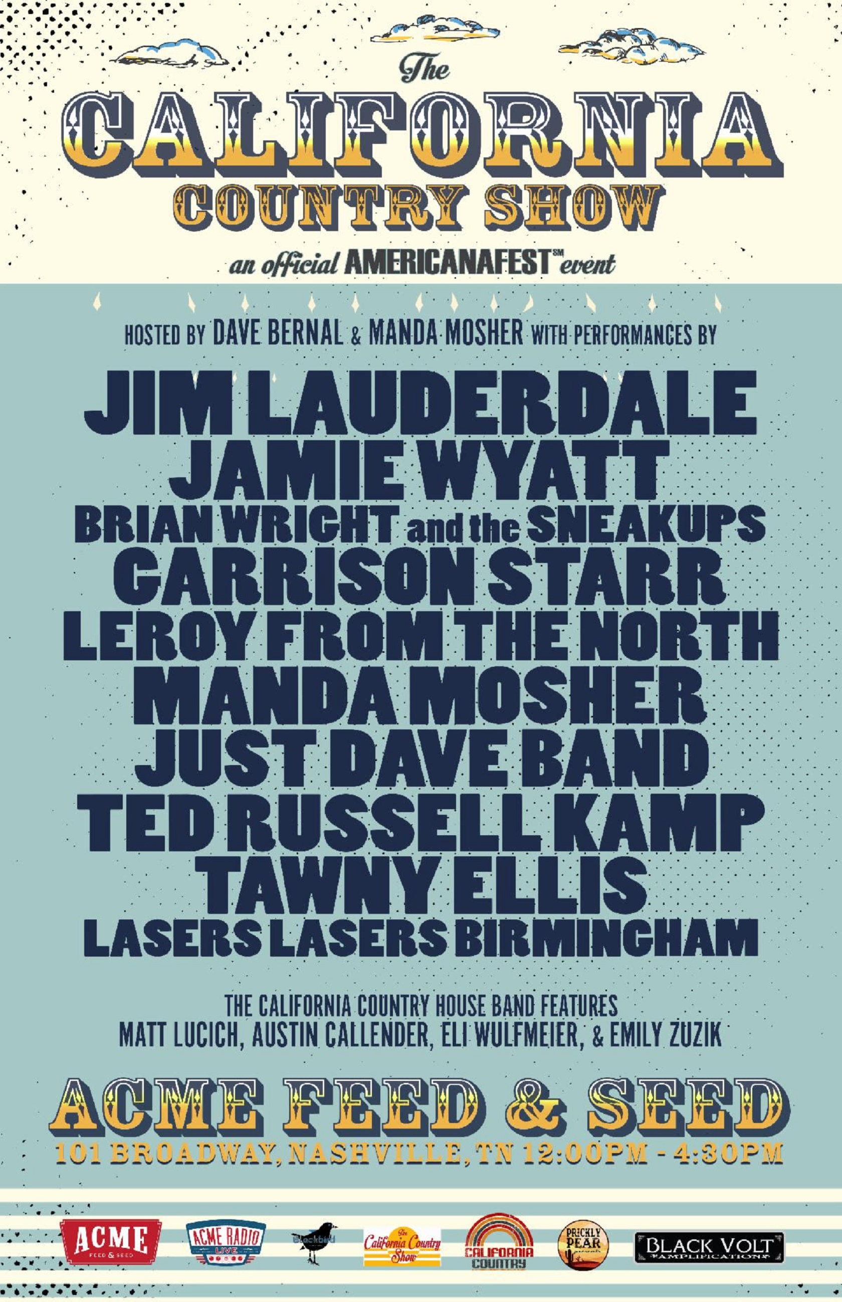 "Lineup Revealed for ""The California Country Show"" Official Americanafest Event on September 13"