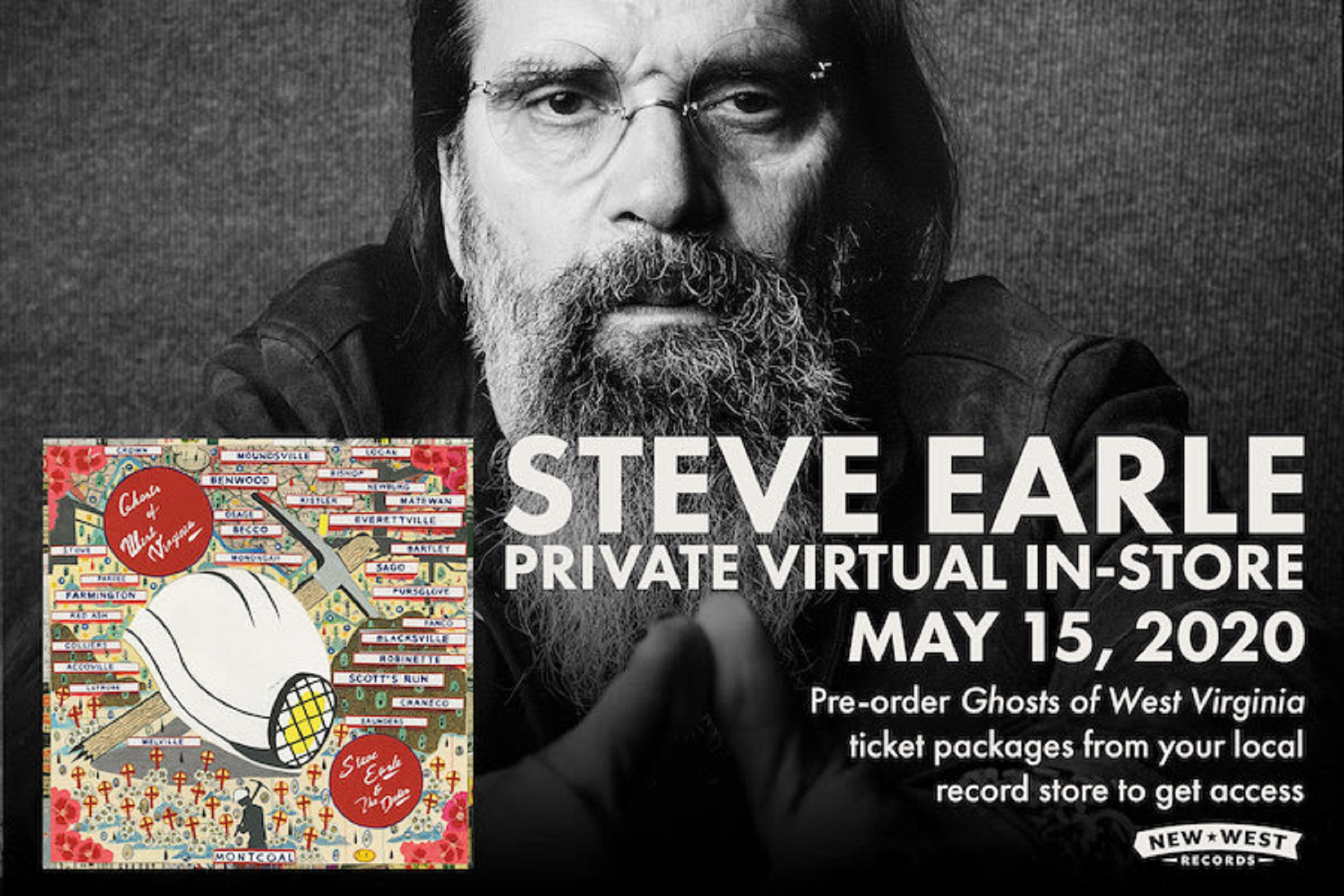 Steve Earle Announces Independent Record Store Virtual In-Store Performance - Democracy Now!