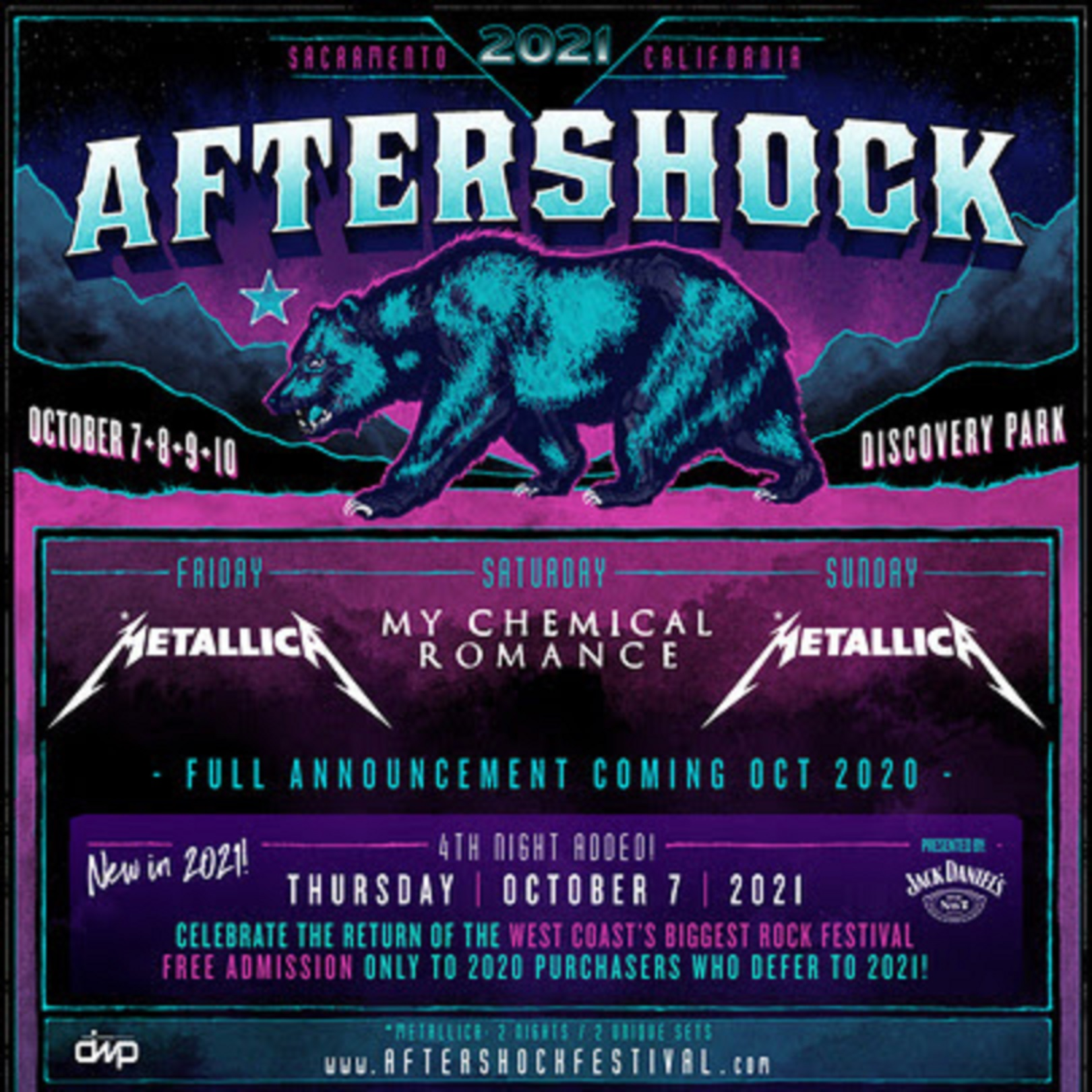 Aftershock Festival Rescheduled To October 7 - 10, 2021