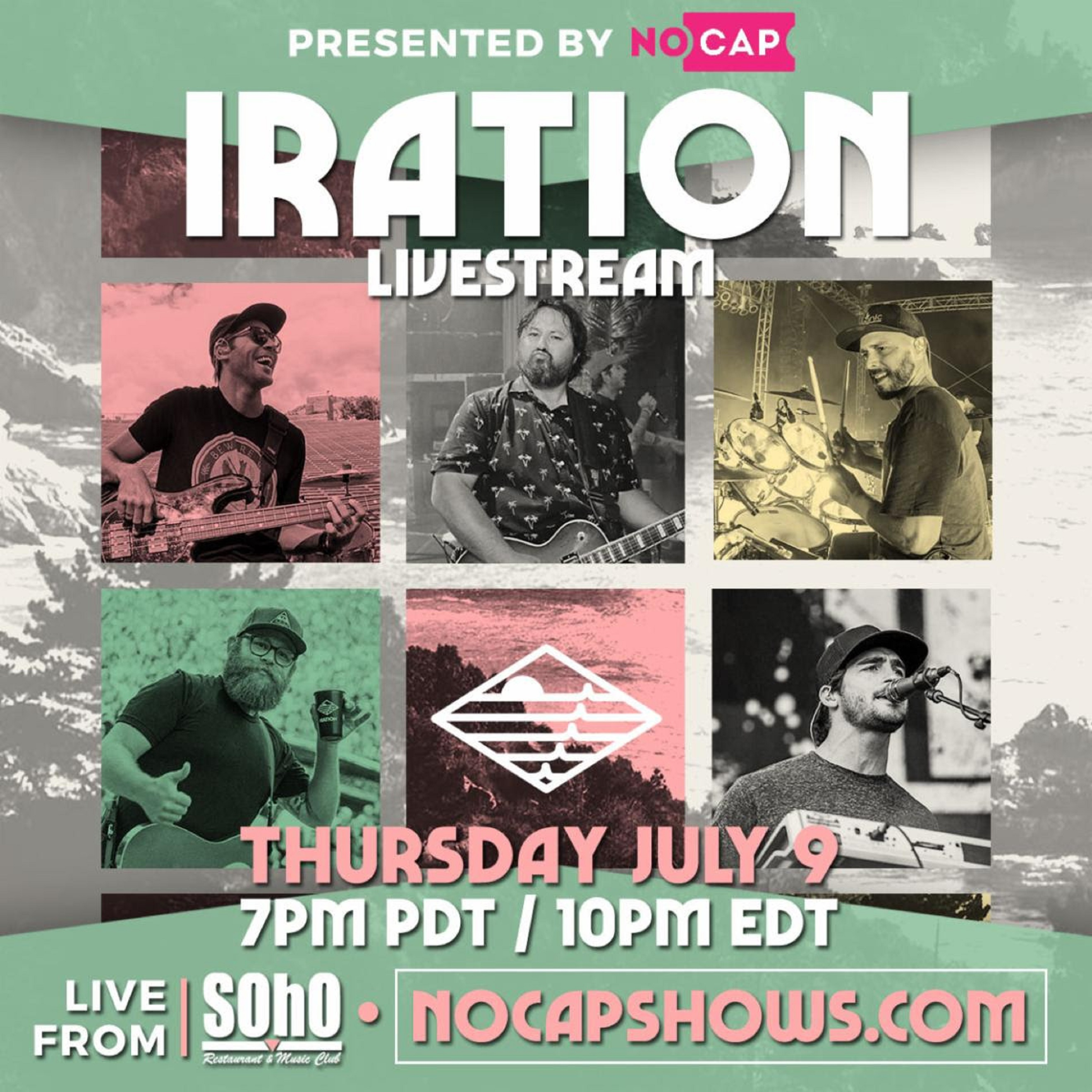 IRATION Announces Official Coastin' Livestream Performance For Thursday, July 9th