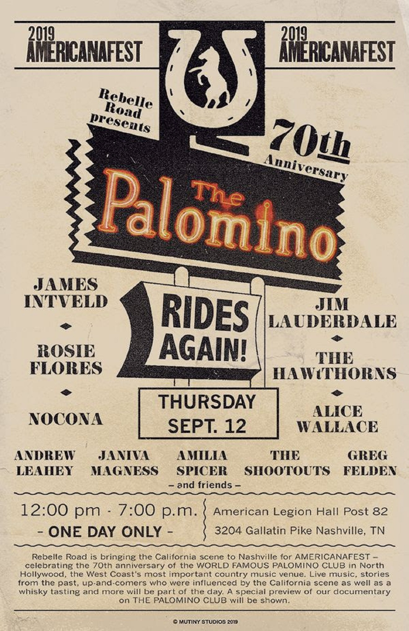 Jim Lauderdae, Rosie Flores, James Intveld Celebrate the 70th Anniversary of the Palomino Nightclub