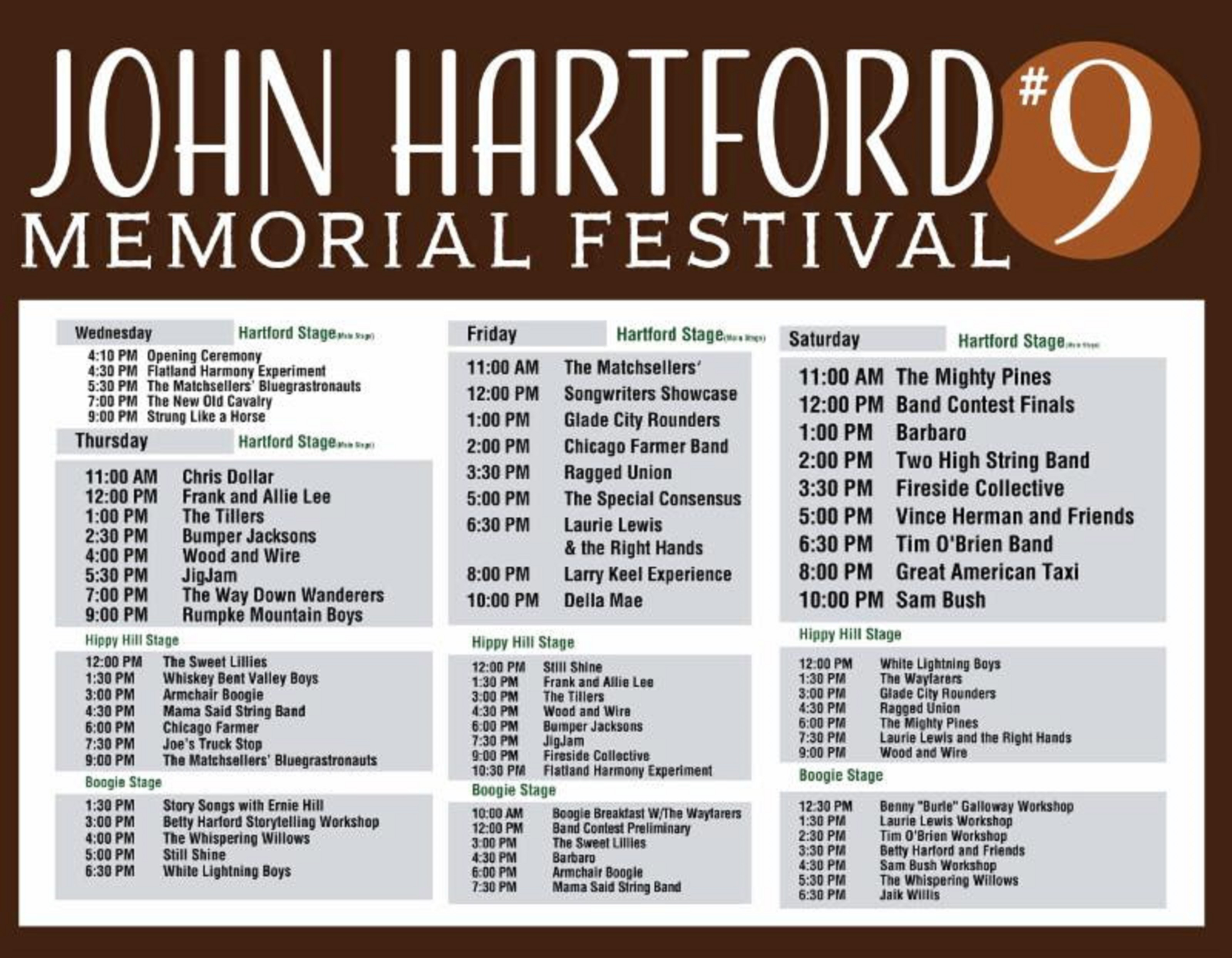 John Hartford Memorial Festival Announces 2019 Schedule