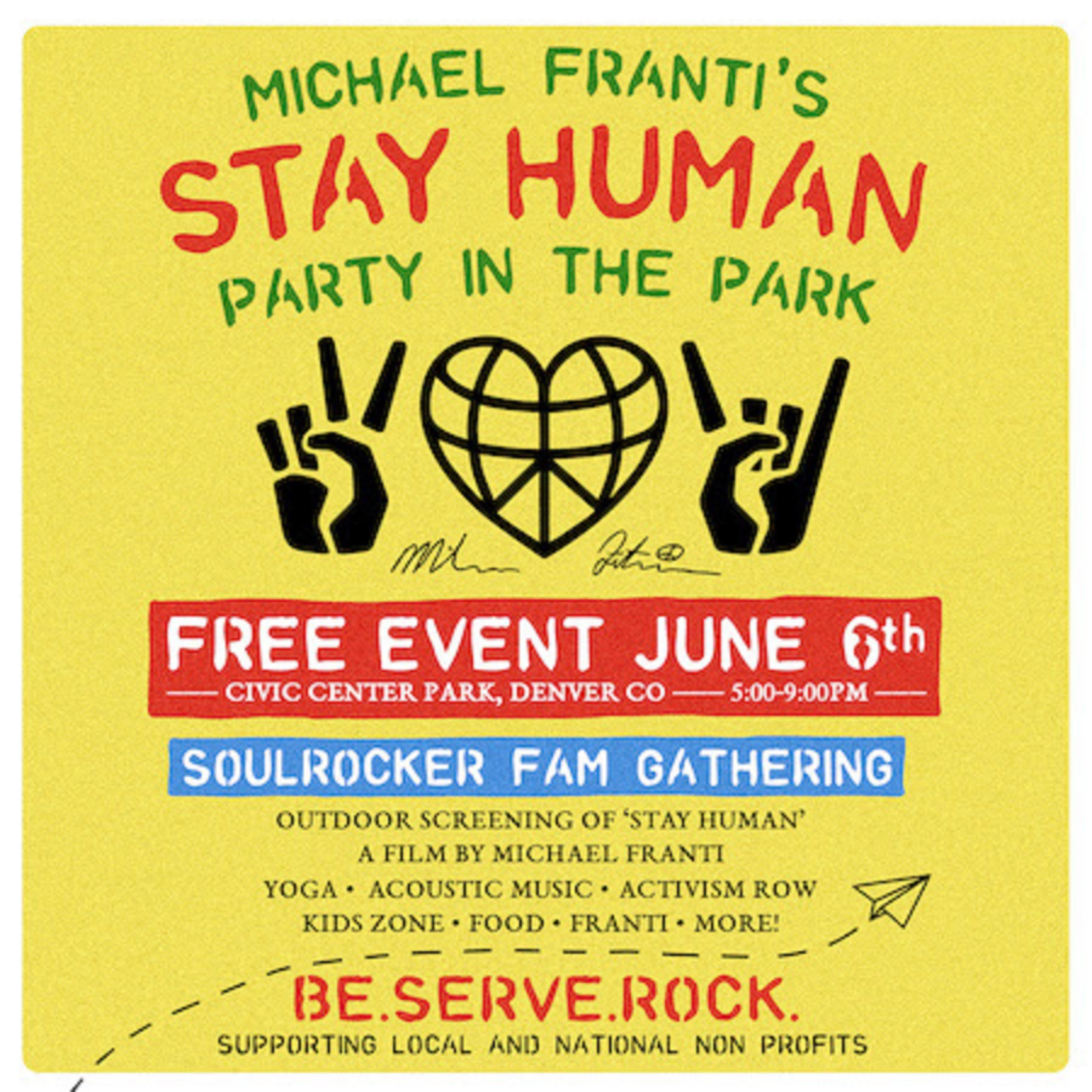 Michael Franti & Spearhead's inaugural Stay Human Party