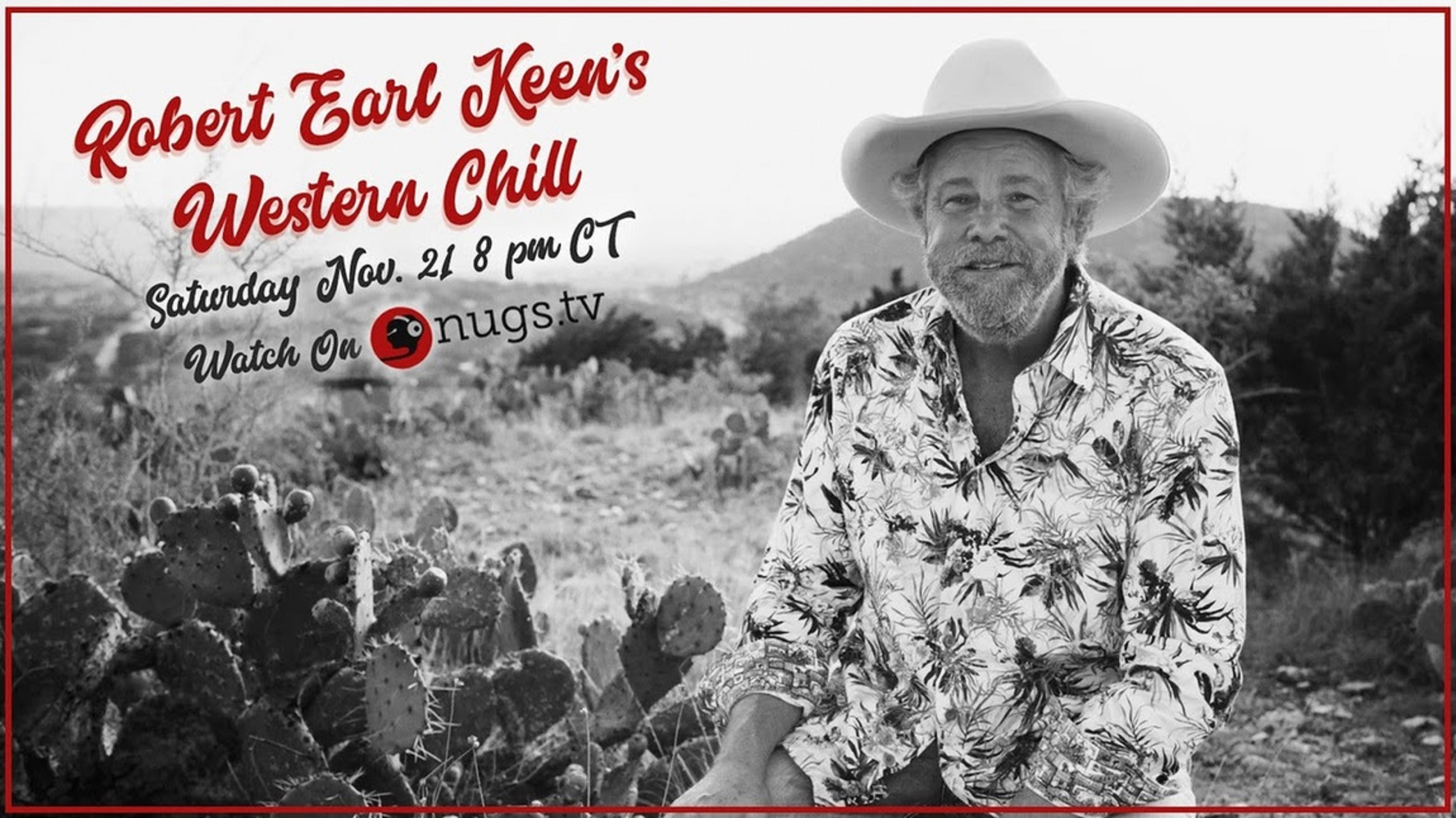 Robert Earl Keen to Premiere Western Chill in an Exclusive Concert