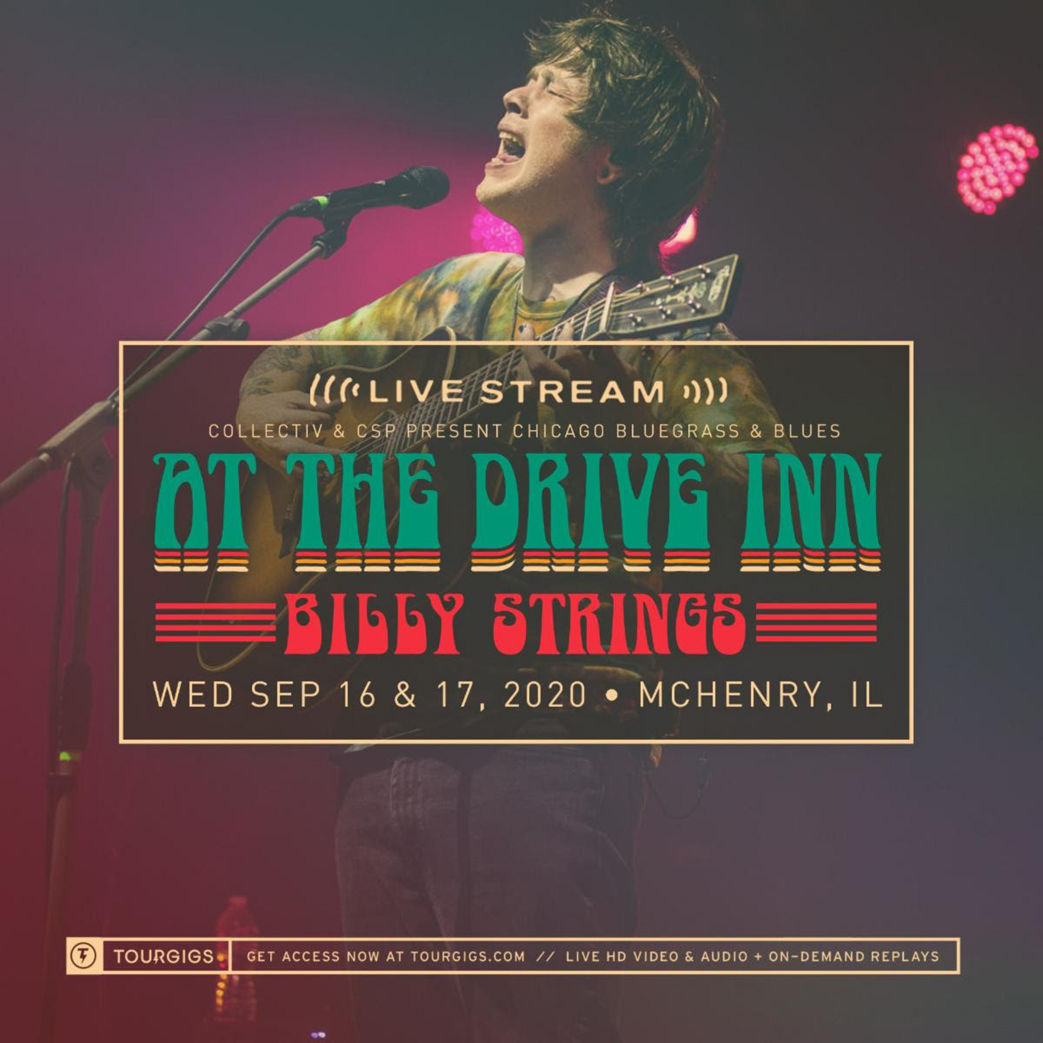 Billy Strings announces livestream ticket options for 'Meet Me At The Drive In Tour'