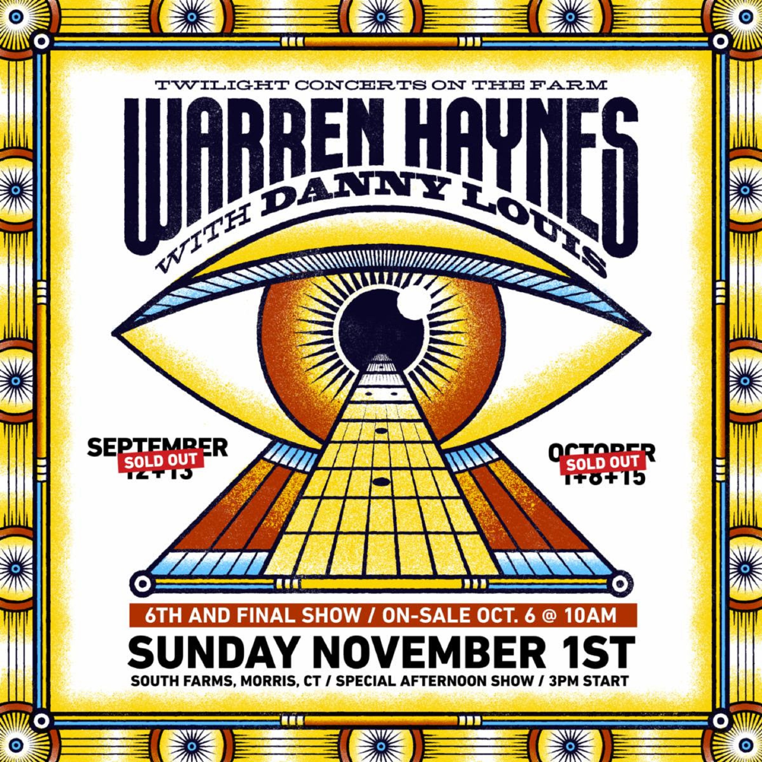 Warren Haynes Announces Sixth and Final Socially Distanced Show Due To Overwhelming Demand