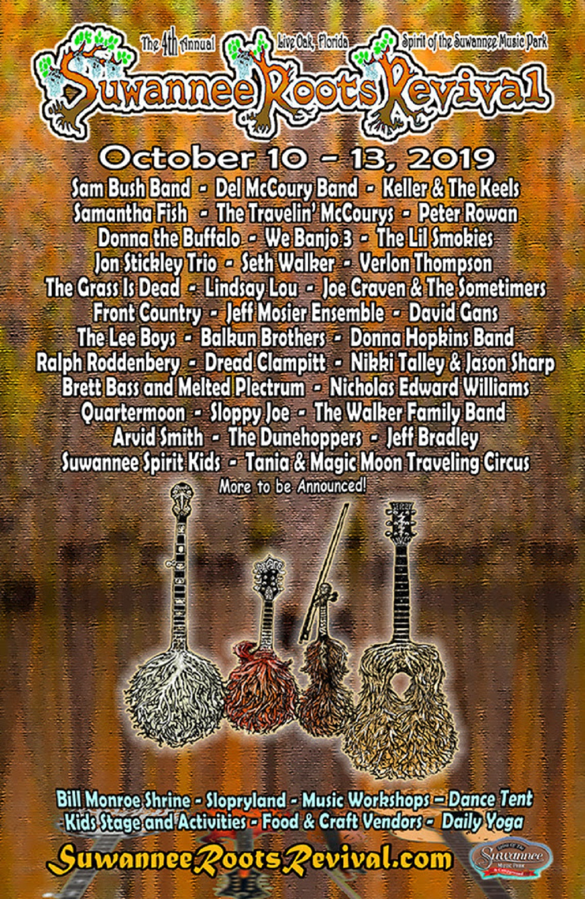 Suwannee Roots Revival Announces Bands-By-Day