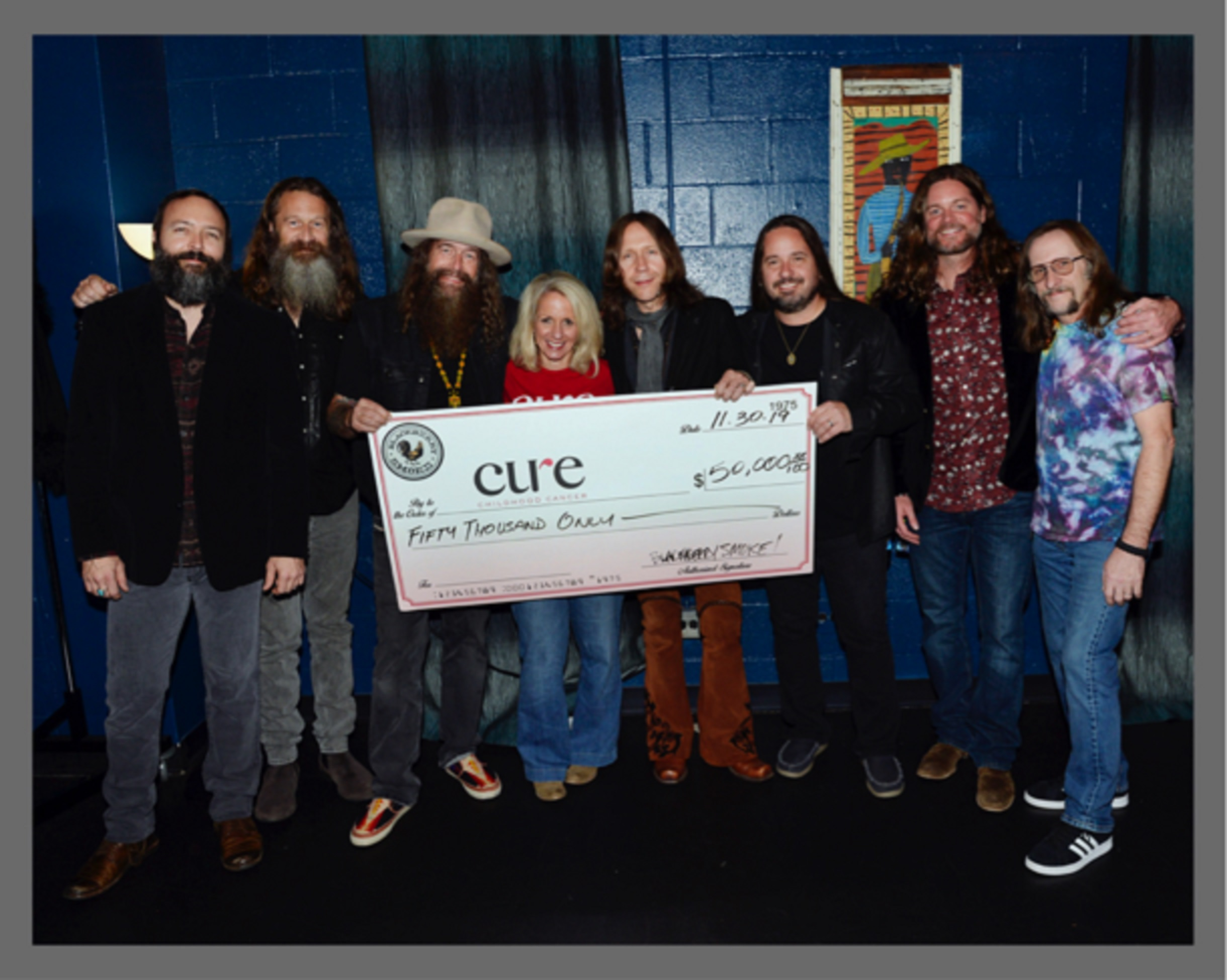 Blackberry Smoke donates $50,000 to CURE Childhood Cancer