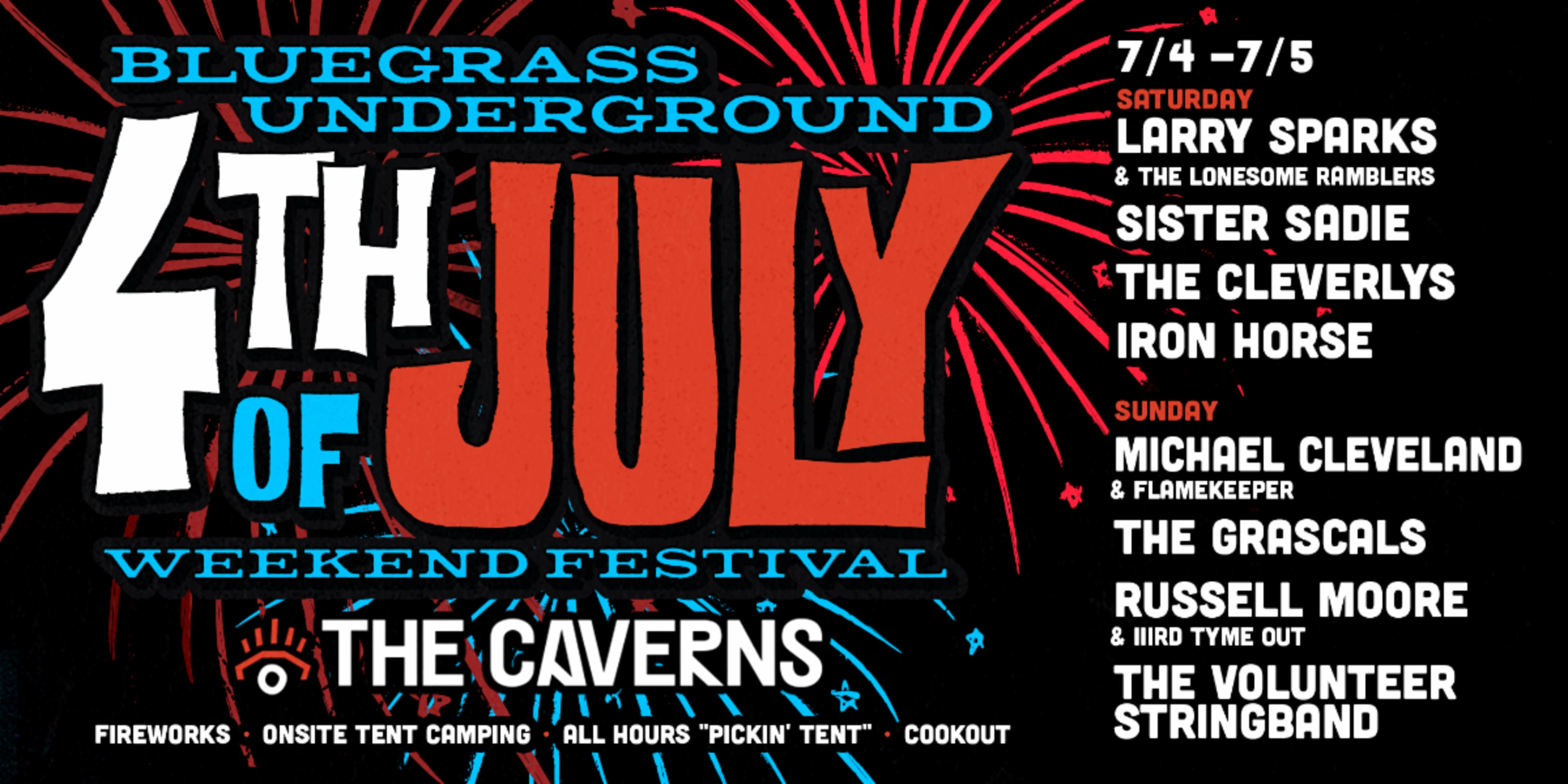 New Bluegrass Festival coming to The Caverns July 4th Weekend