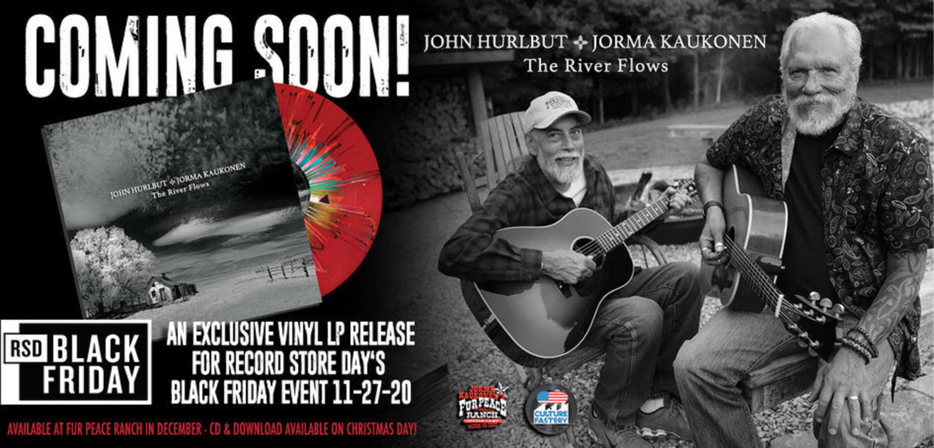 Jorma Kaukonen & John Hurlbut release The River Flows at RSD Black Friday Event