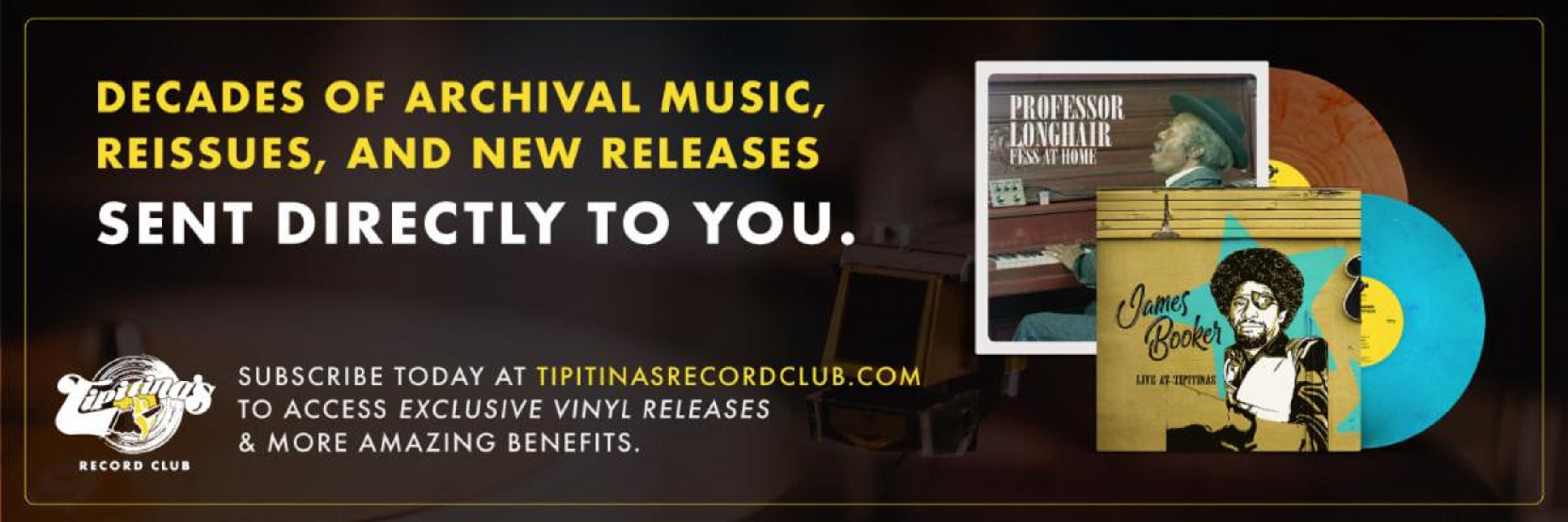 "Iconic New Orleans venue Tipitina's unveils ""Tipitina's Record Club"""