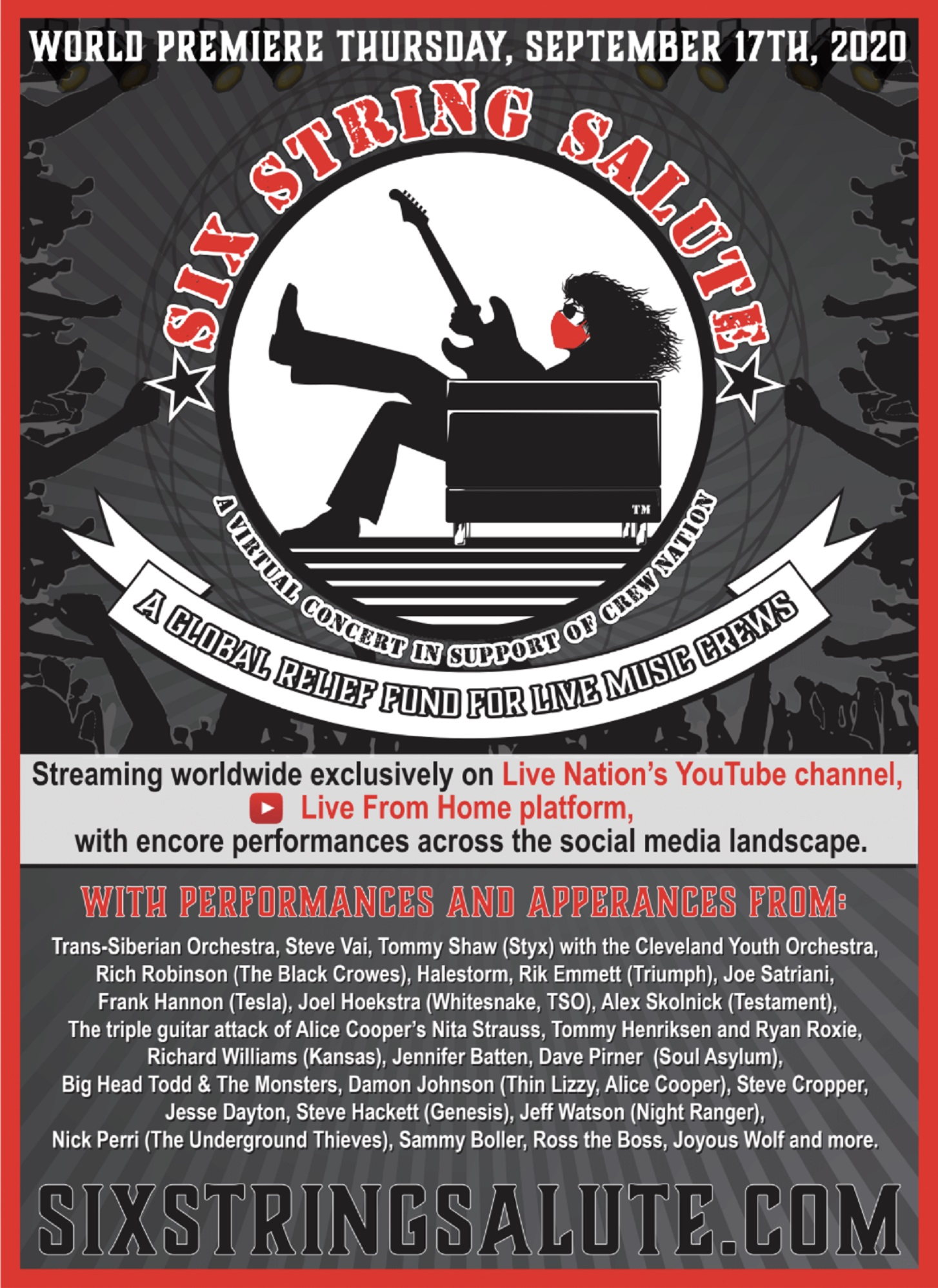 Legendary Guitarists And Musicians To Participate In Six String Salute Virtual Concert!