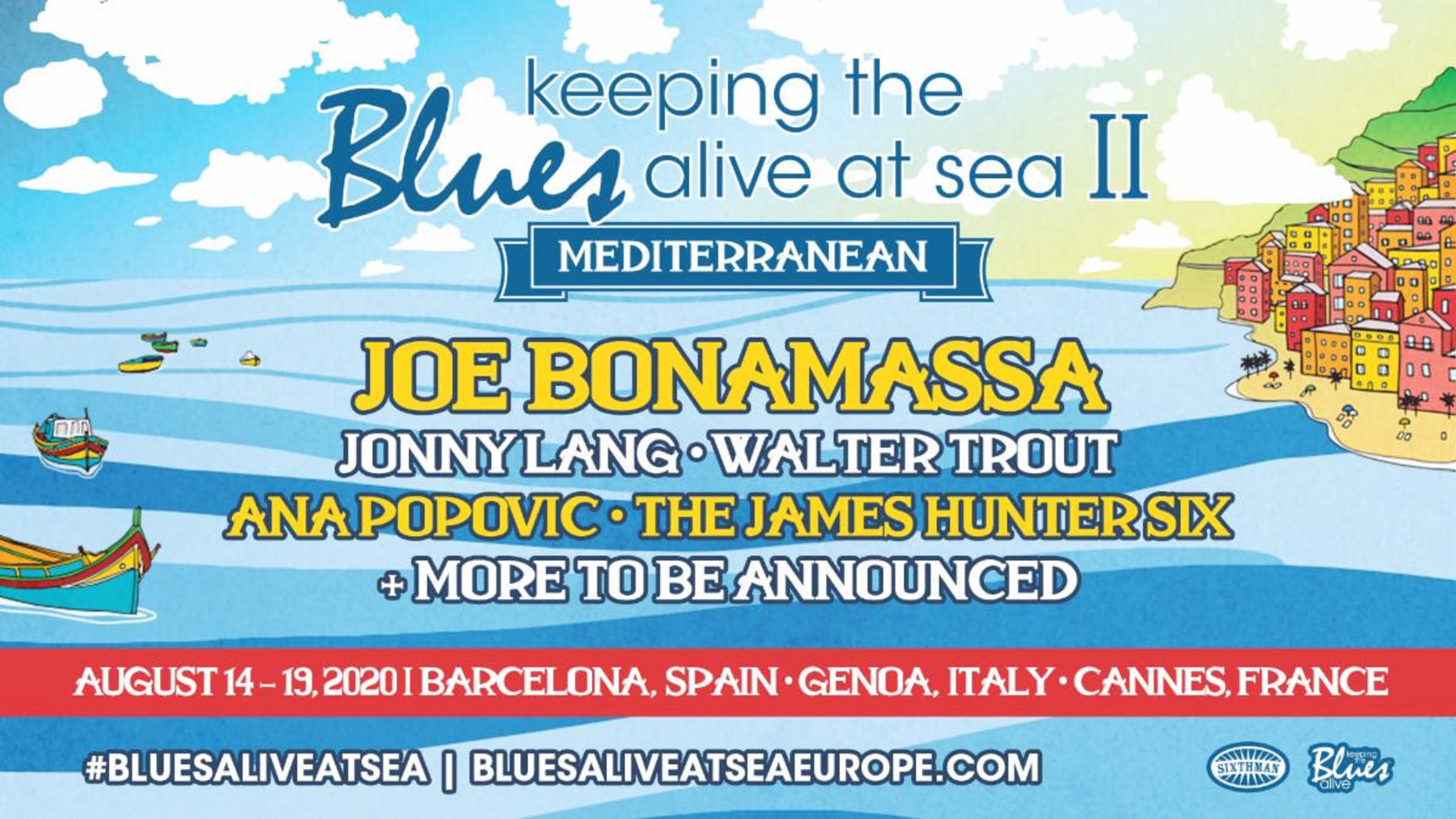 Joe Bonamassa announces Jonny Lang, Walter Trout, and more for 2nd annual Mediterranean cruise