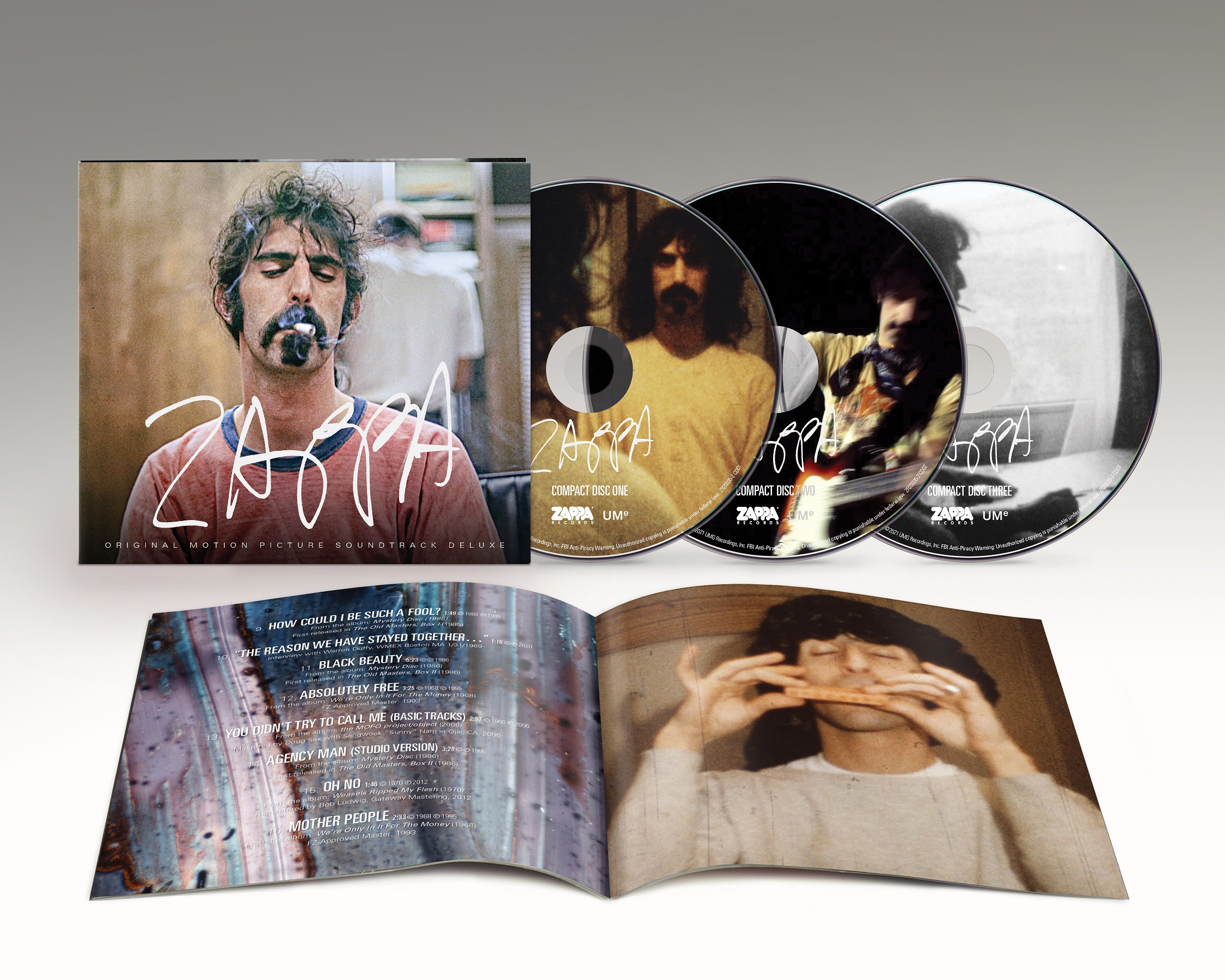 'Zappa Original Motion Picture Soundtrack' Available Now As 3CD Deluxe Edition Via Zappa Records/UMe