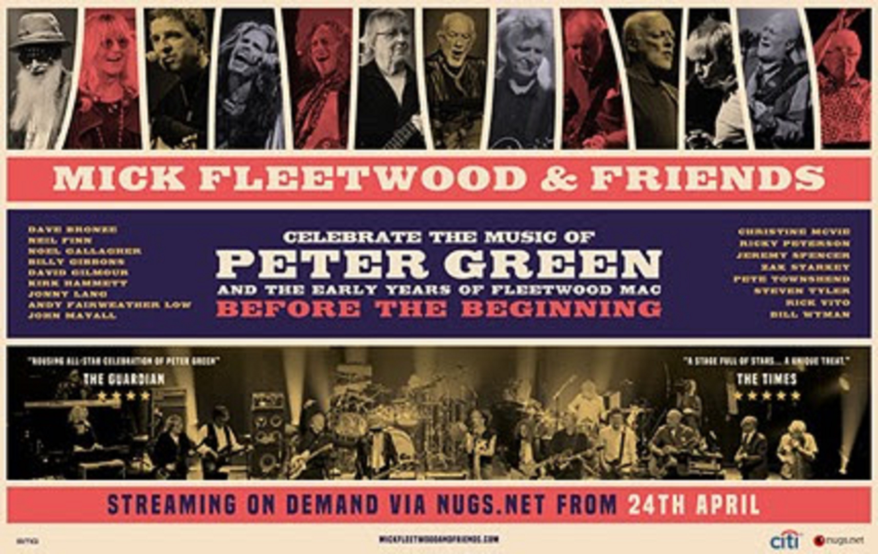 MICK FLEETWOOD & Friends Celebrate the Music of PETER GREEN - Streaming On Demand Event Announced