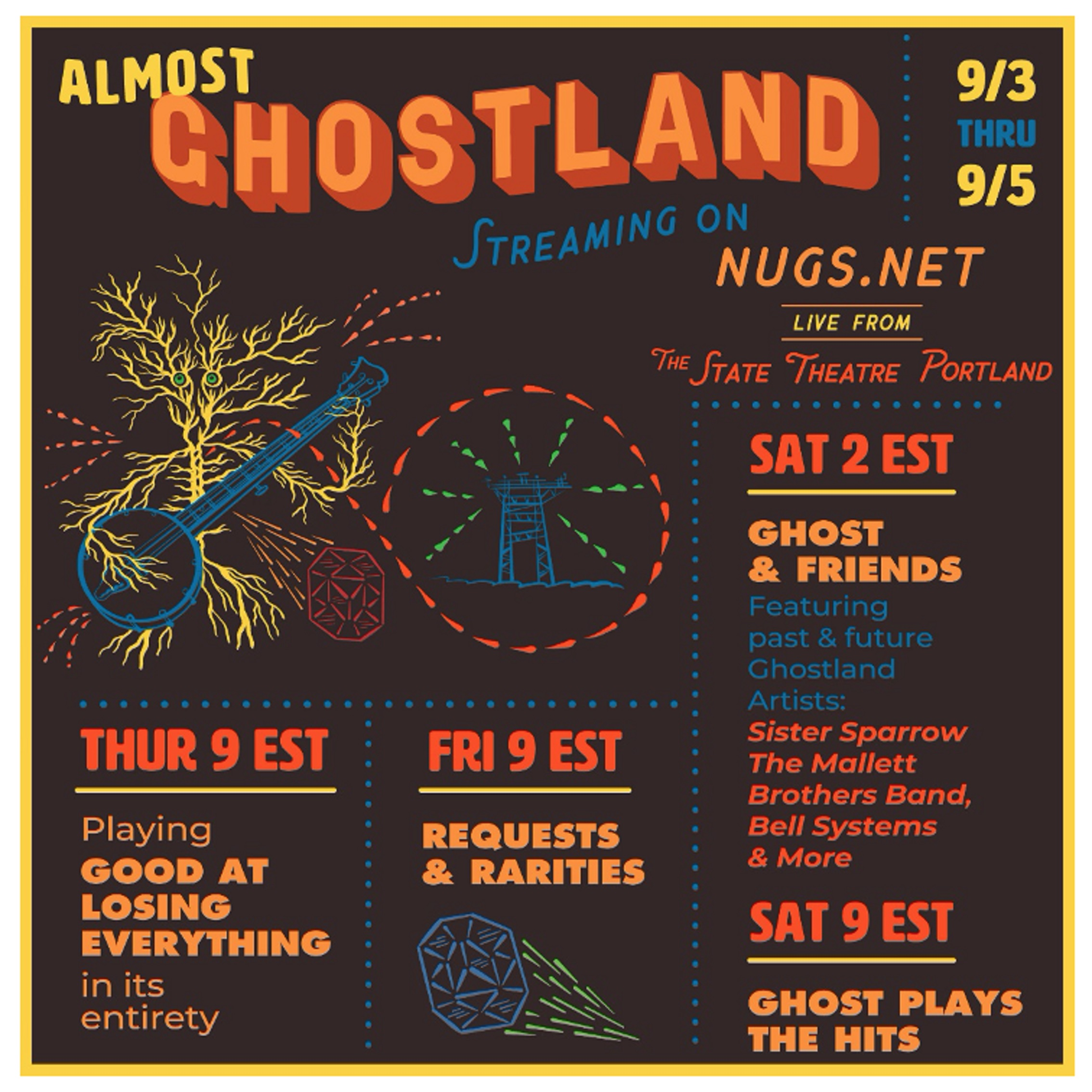 The Ghost of Paul Revere Announce 'Almost Ghostland' Virtual Festival - Labor Day Weekend