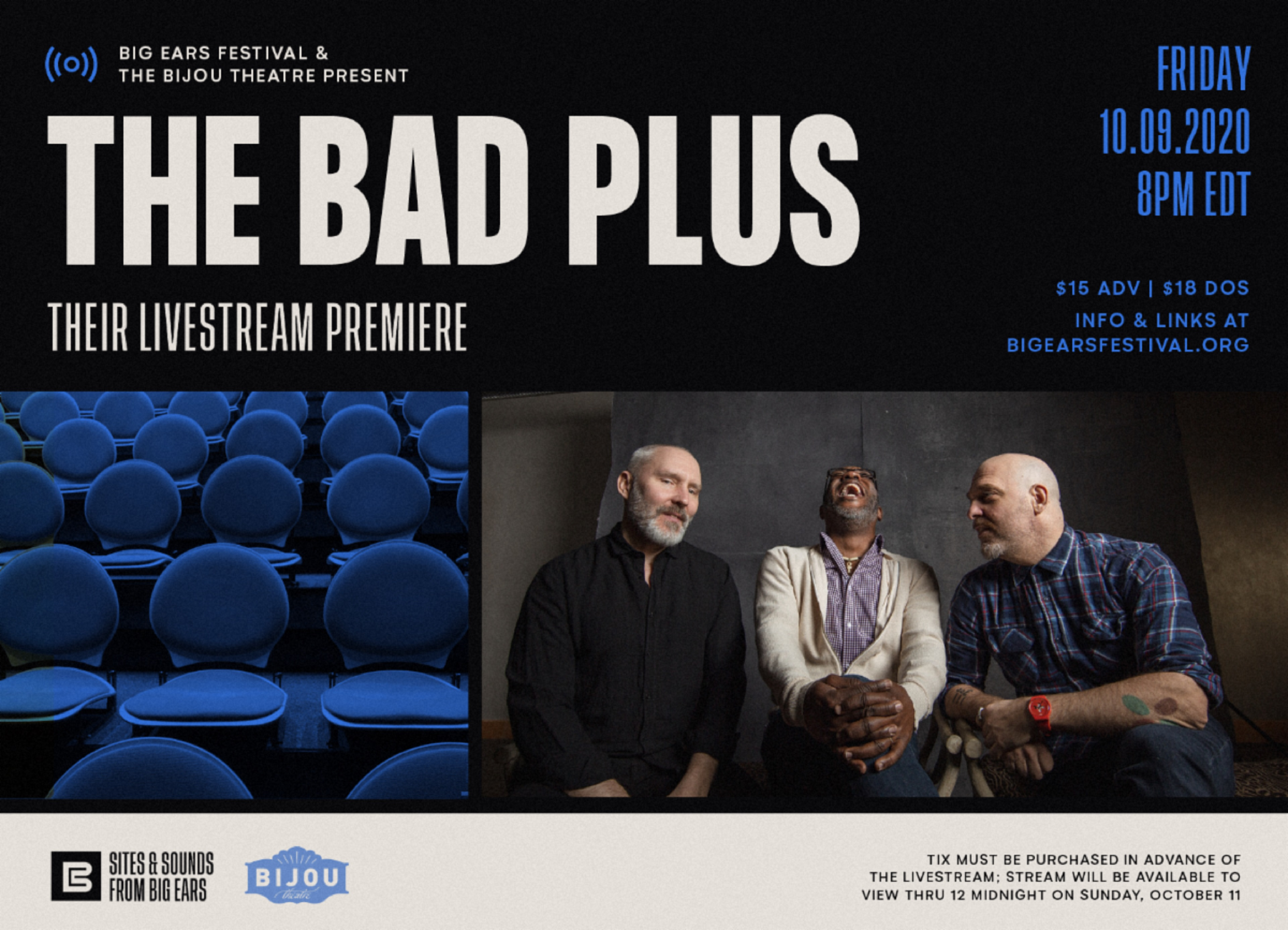 The Bad Plus to perform livestream from Big Ears Fest in Knoxville this Friday