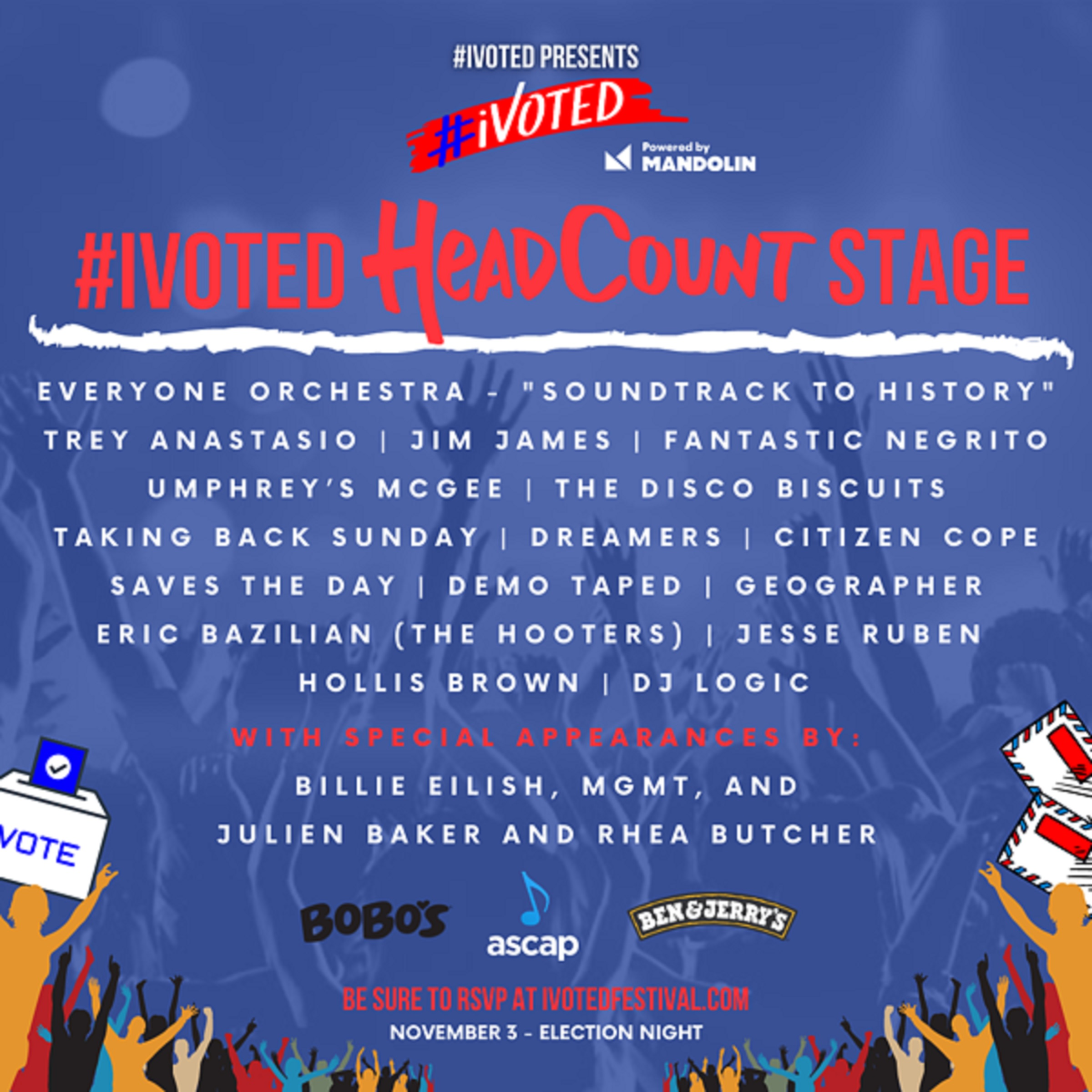 HeadCount Livestream Festival on Election Day