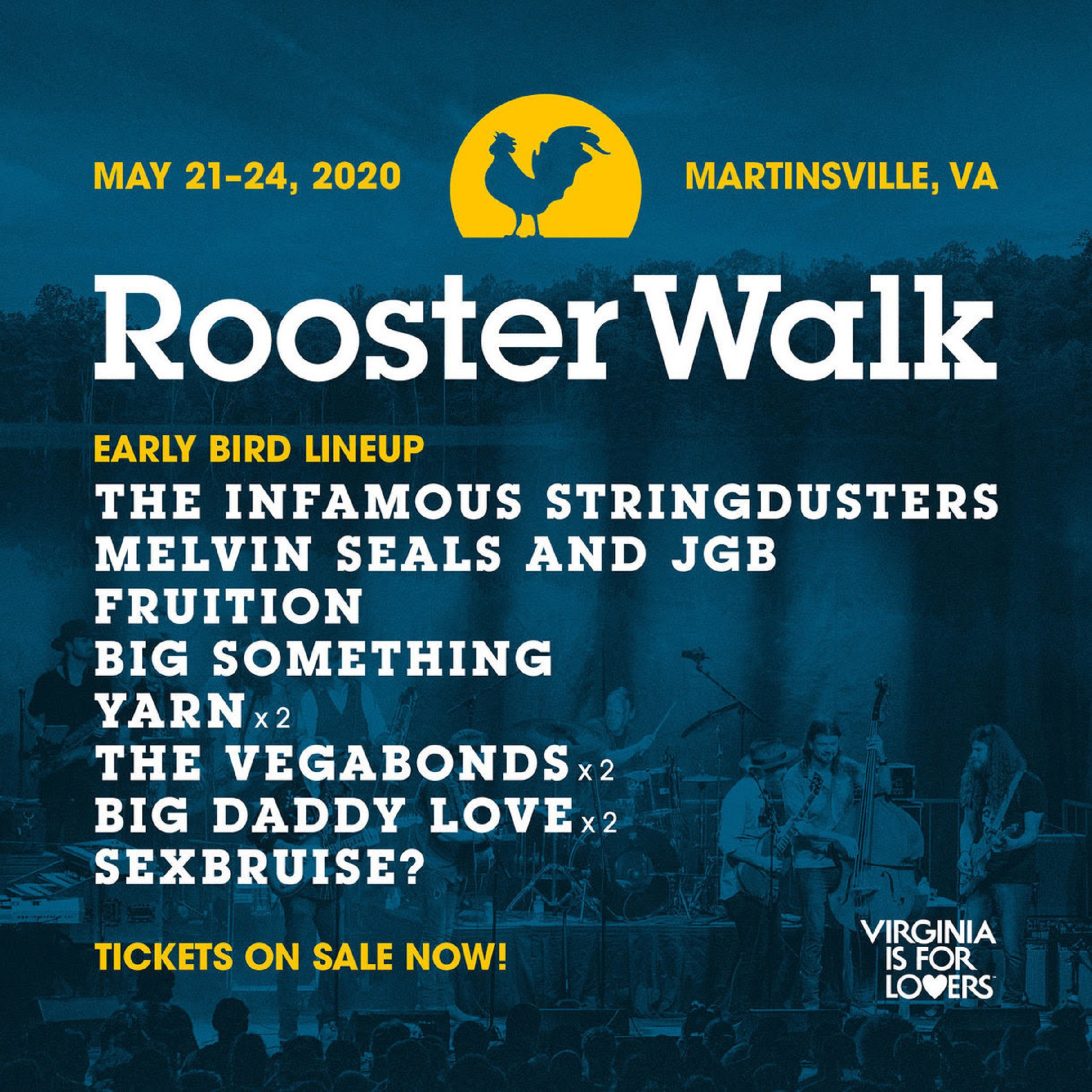 Infamous Stringdusters + Melvin Seals + Fruition top early Rooster Walk lineup