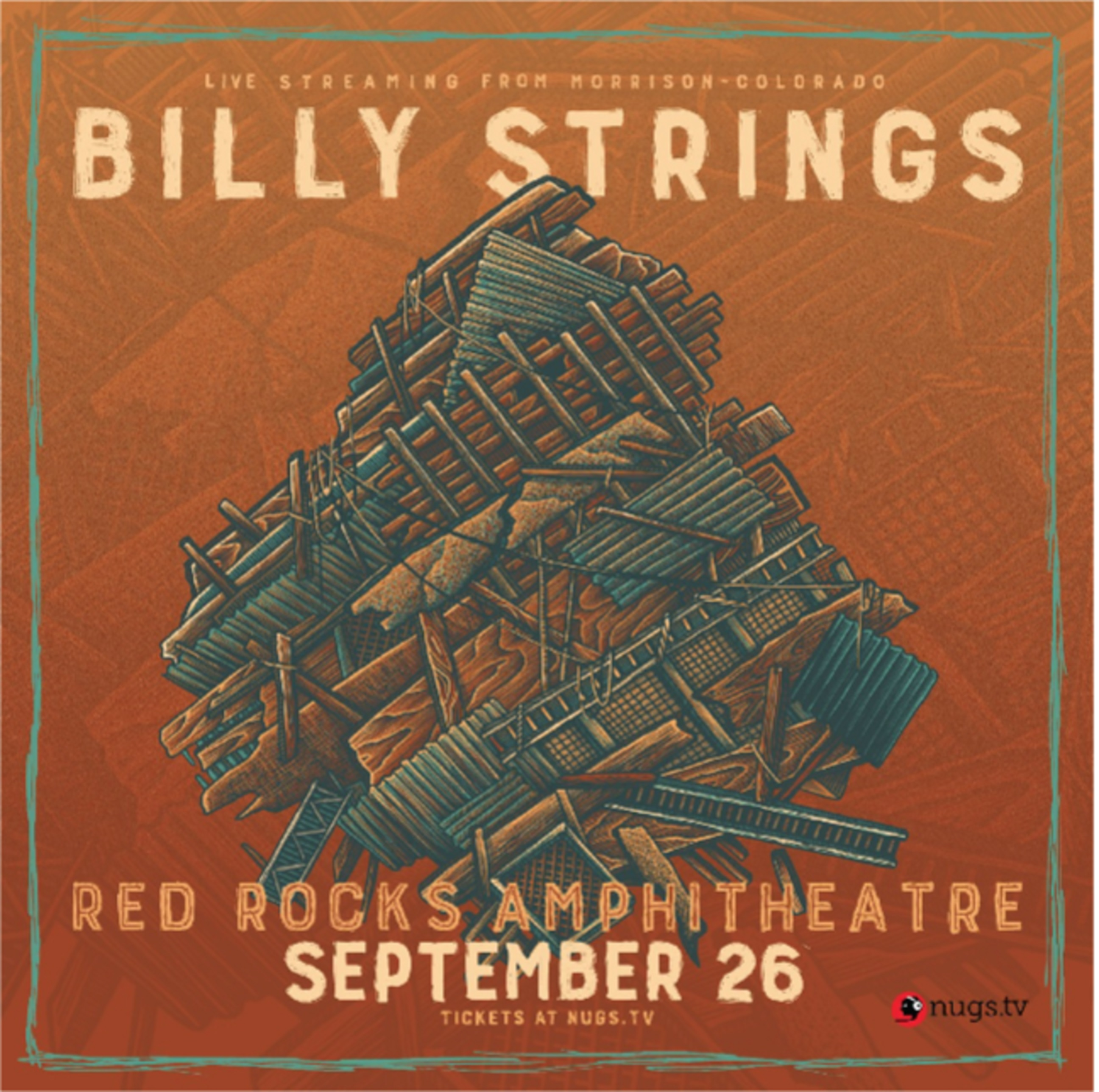 Billy Strings celebrates anniversary of 'Home' with surprise debut headline performance at Red Rocks Live Stream