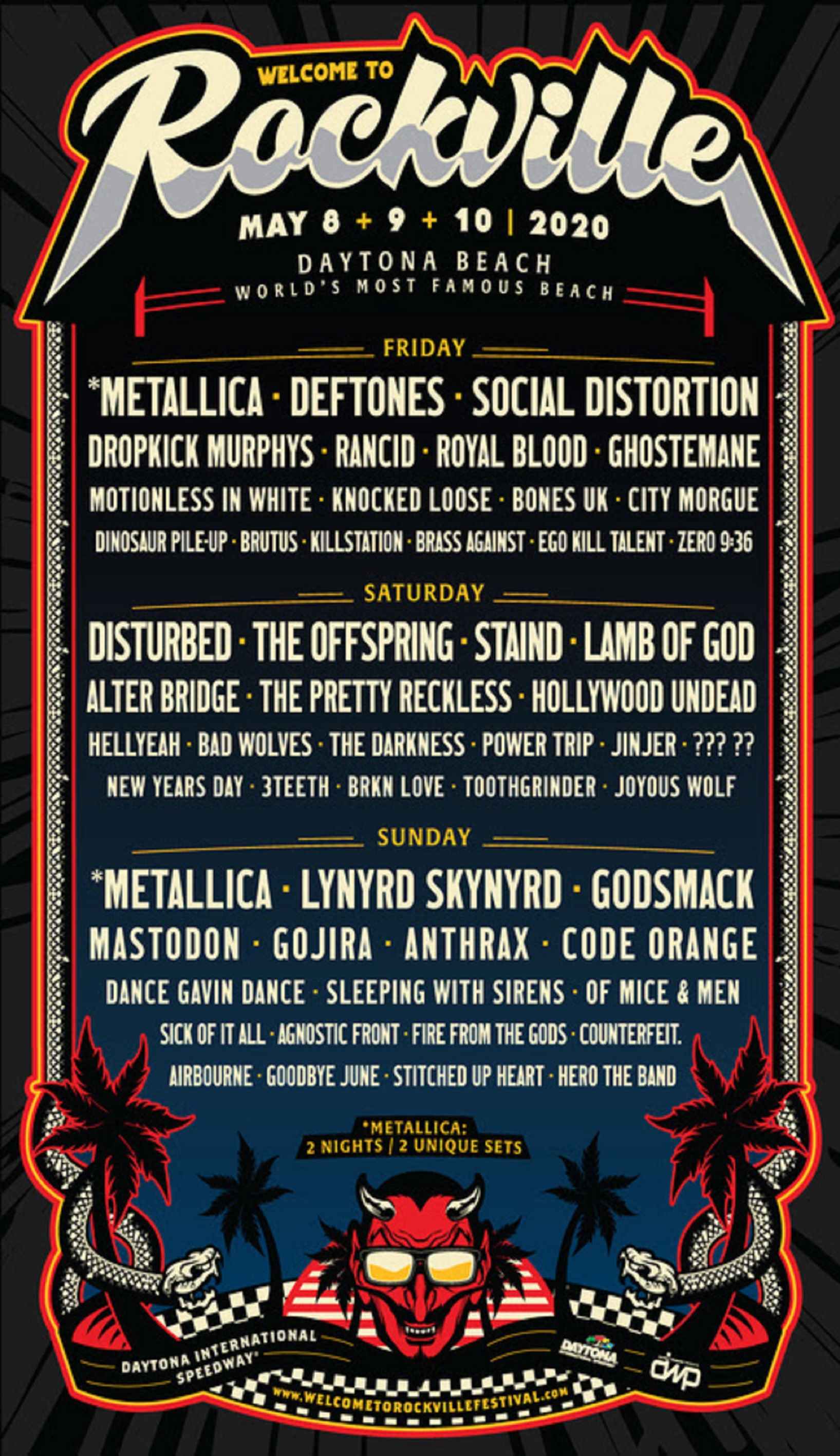 Welcome To Rockville 2020 Full Lineup Announced