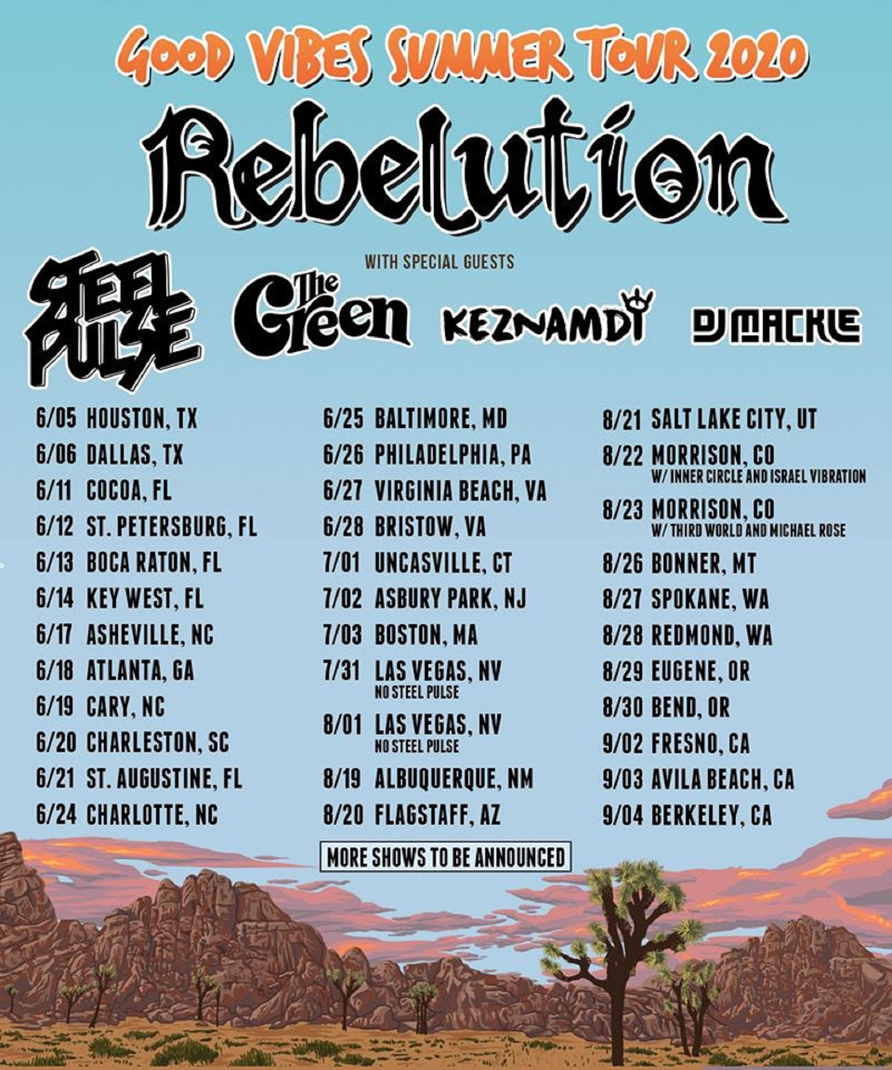 REBELUTION Announce Good Vibes Summer Tour 2020!