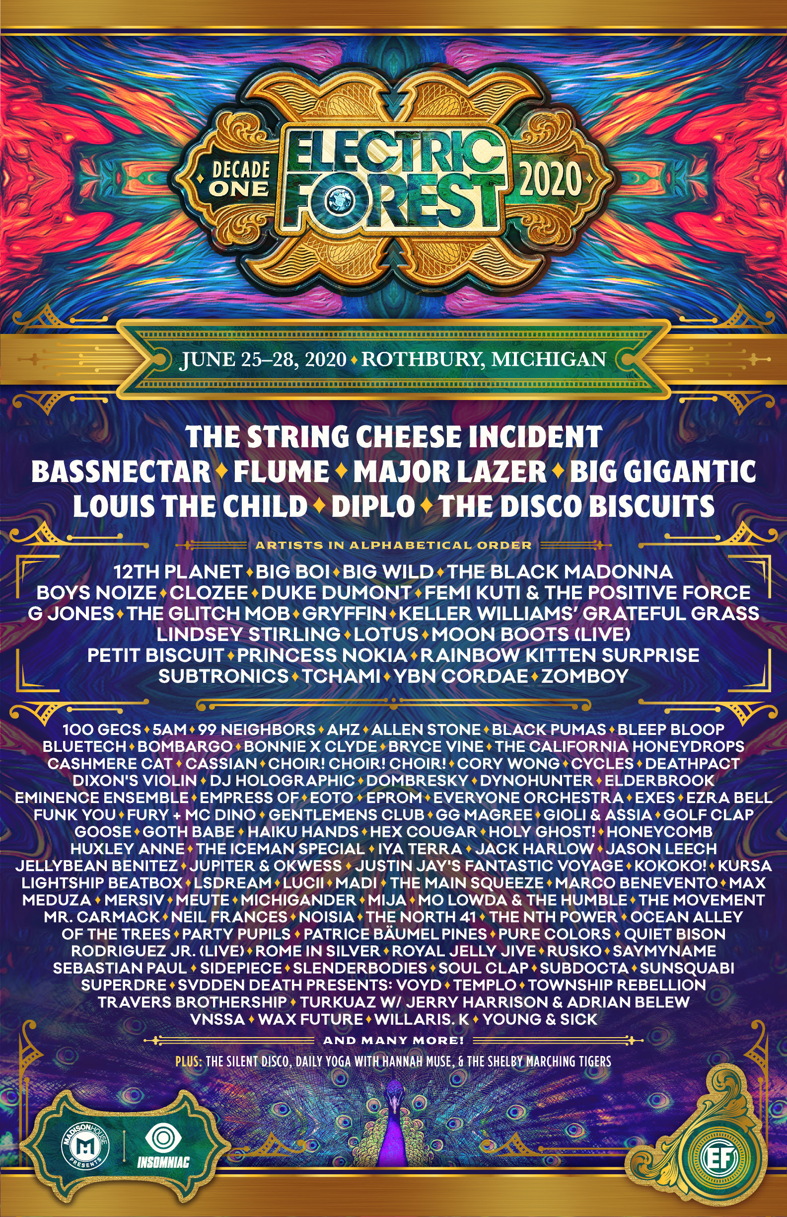 Artist Lineup Revealed for Electric Forest's 10th Anniversary
