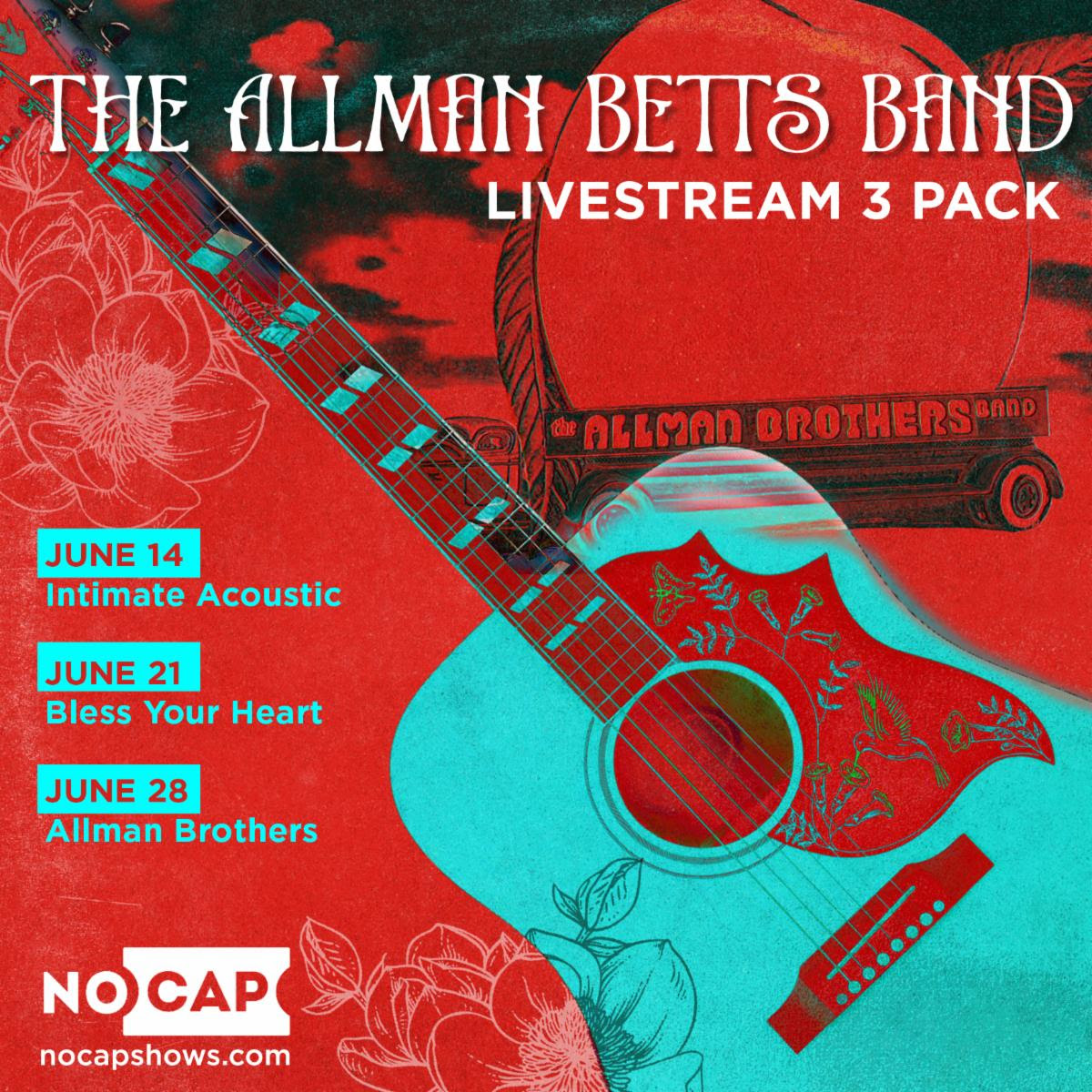 The Allman Betts Band announce one of a kind livestream performances coming this June
