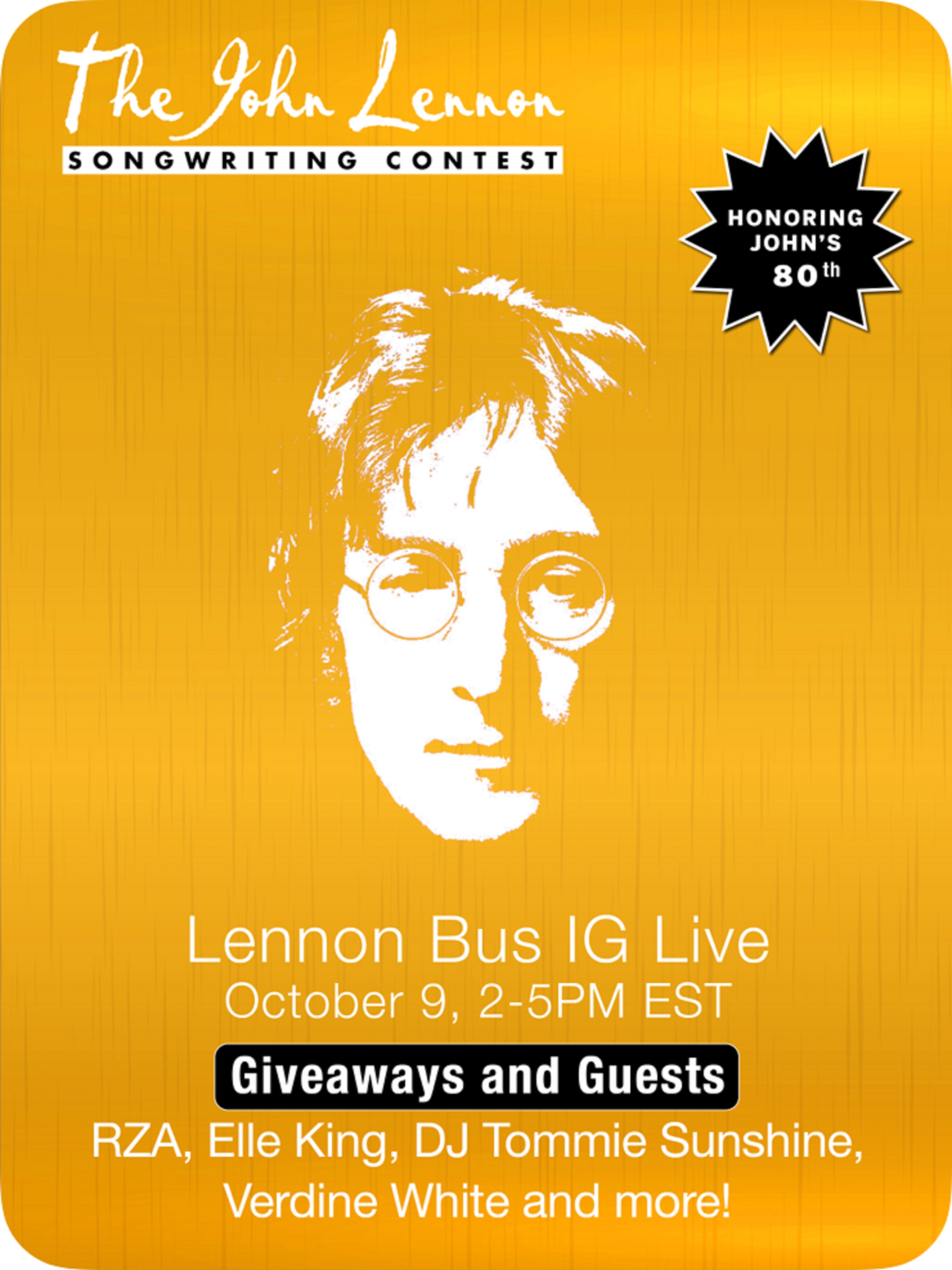 John Lennon Bus IG Live Party Today