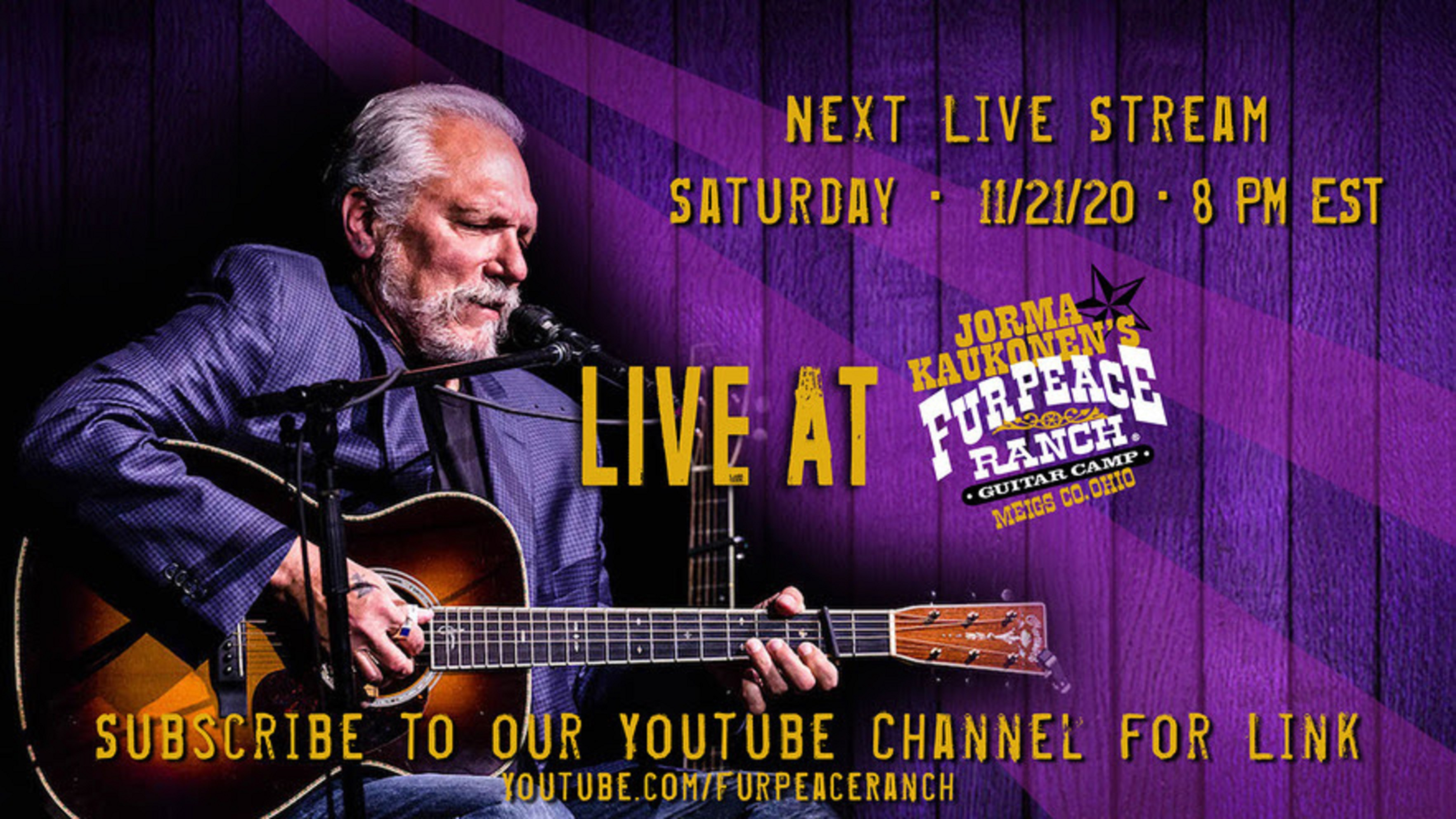 Jorma Kaukonen with guest John Hurlbut this Saturday Night