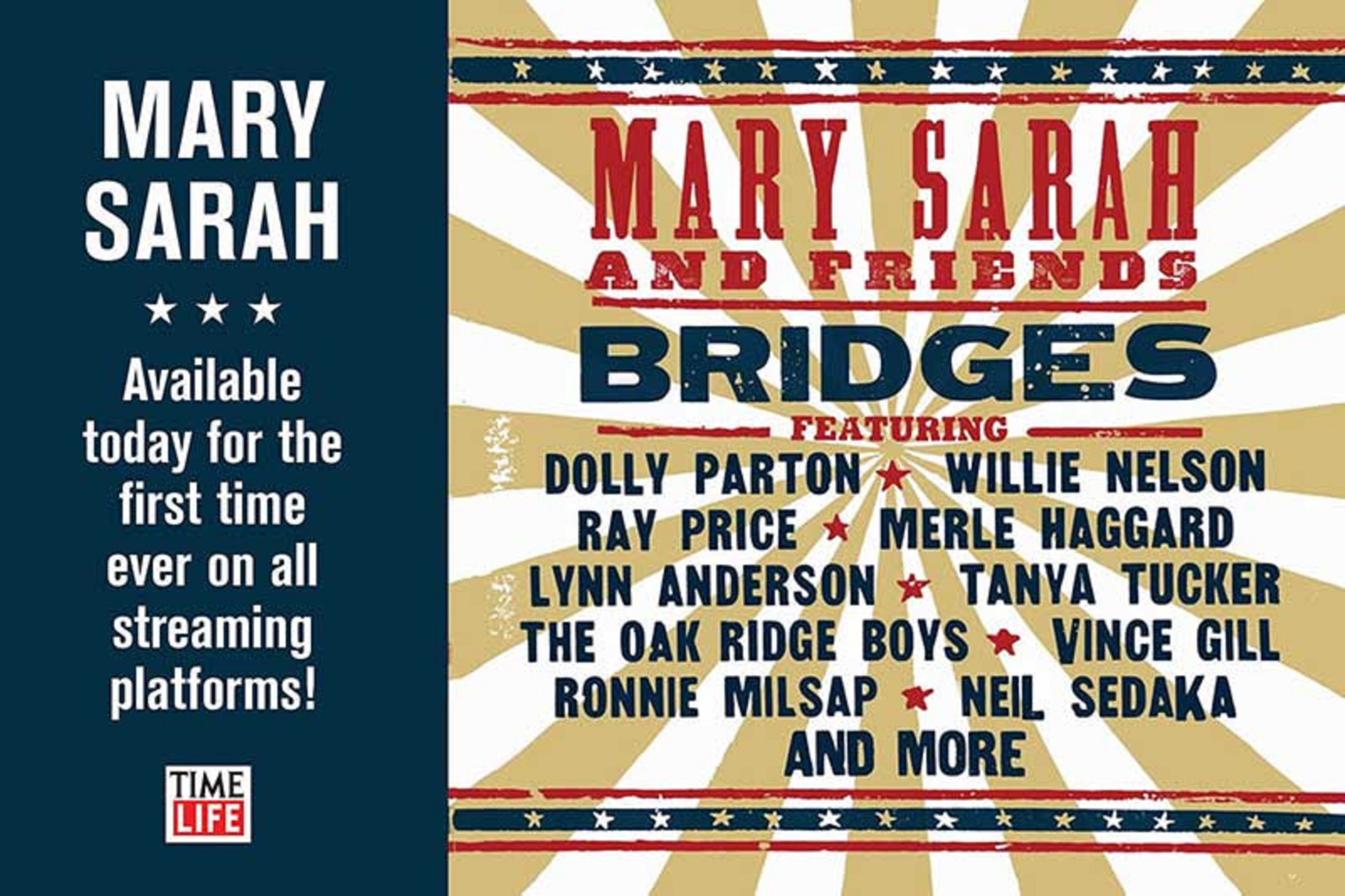 Generations Come Together Through Timeless Country Classic Songs On Mary Sarah's 'Bridges' Reissued Via Time Life