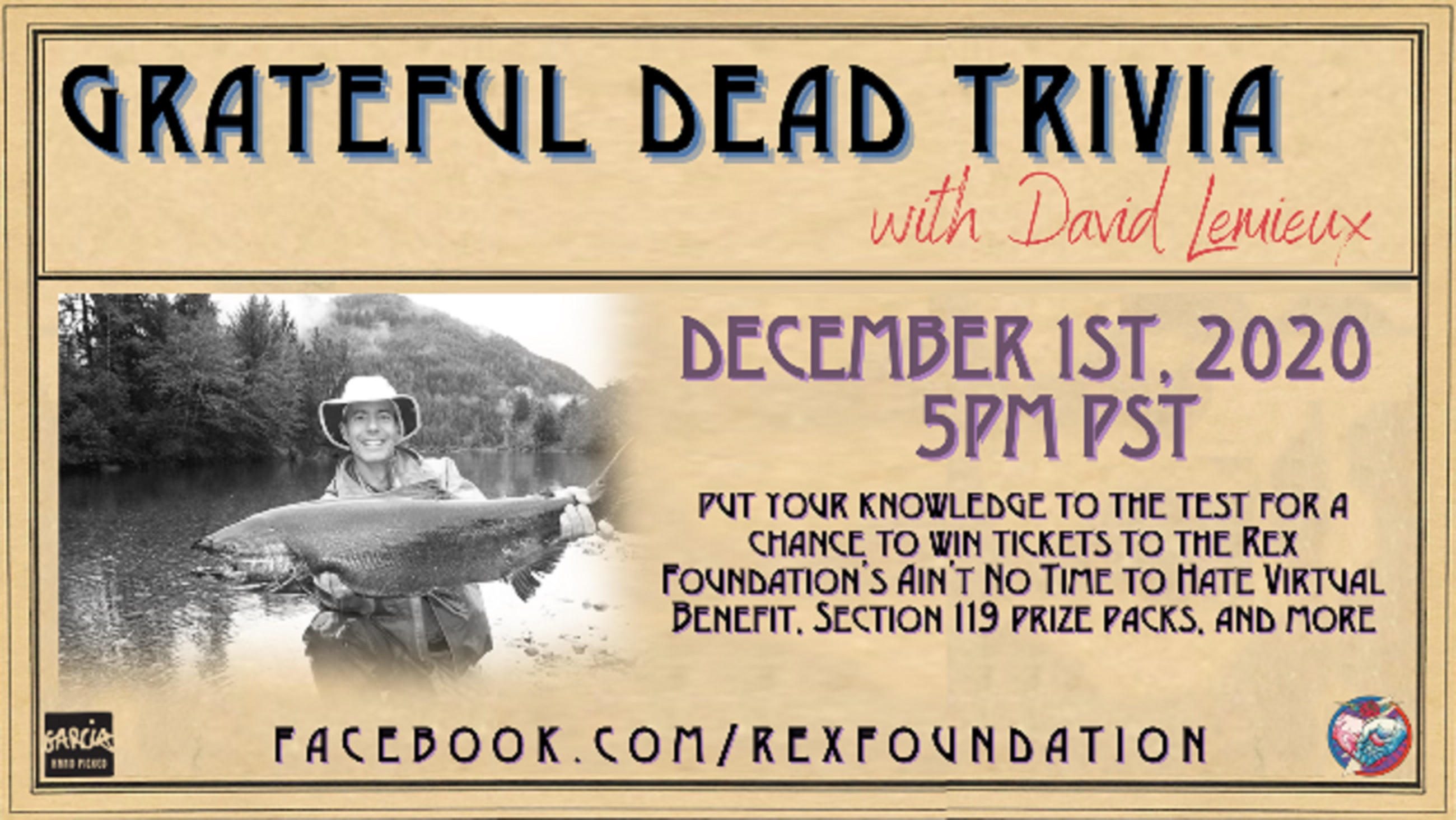 Join Rex Foundation for Grateful Dead Trivia with David Lemieux December 1