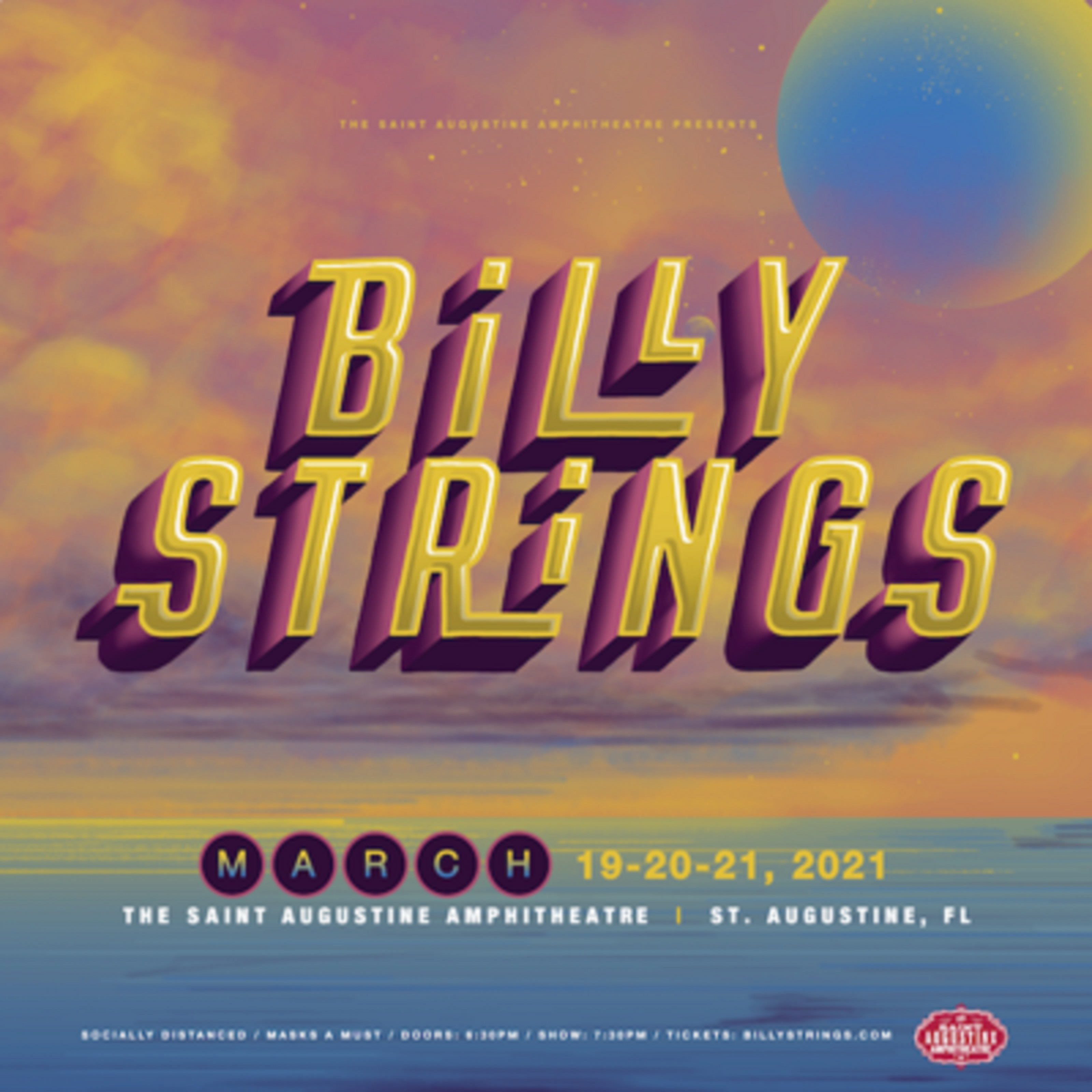 Billy Strings confirms Saint Augustine Amphitheatre socially-distanced concert series March 19-21