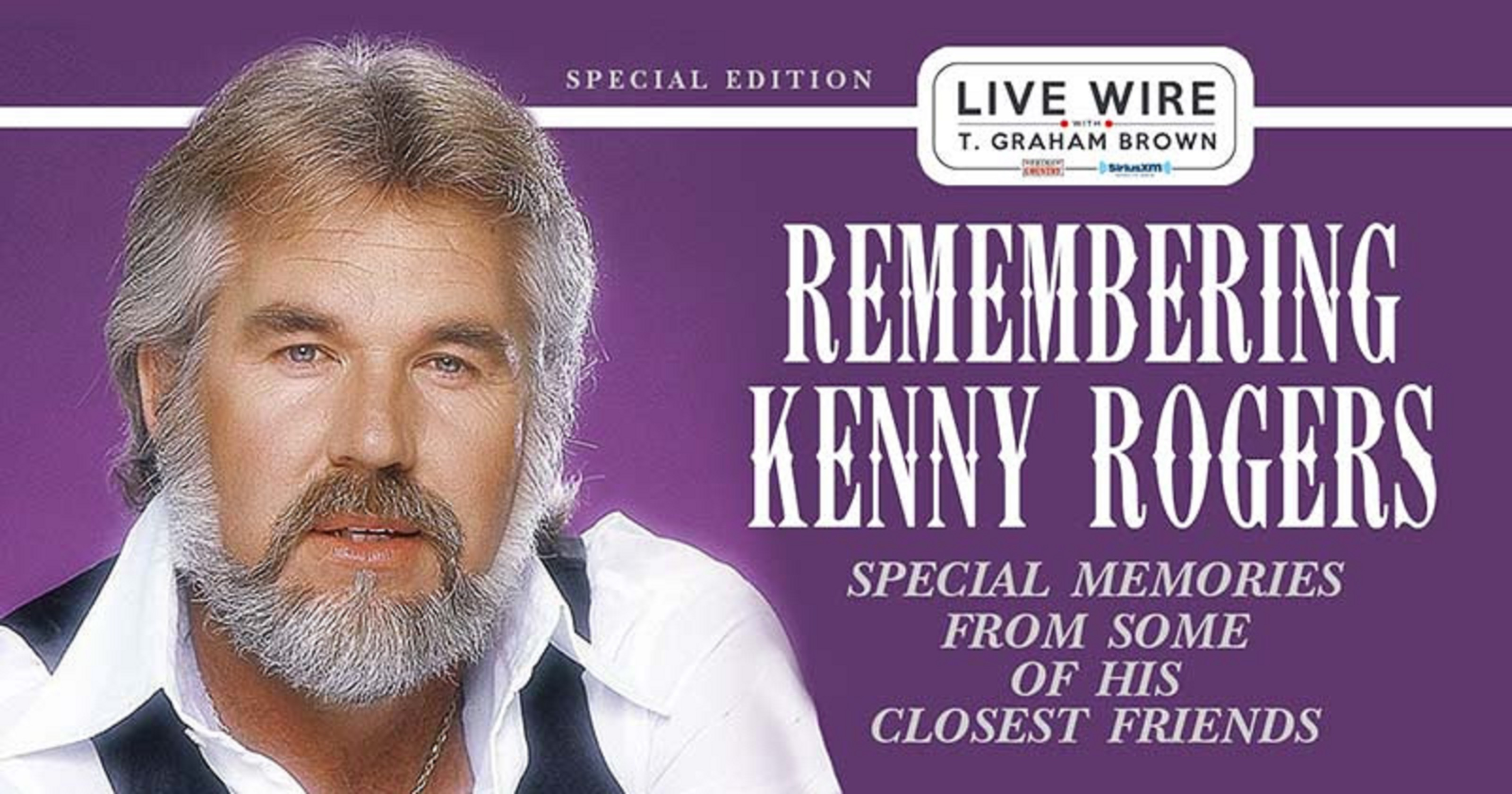 'Remembering Kenny Rogers' Special Hosted By T. Graham Brown Set To Air On SiriusXM's Prime Country Channel 58