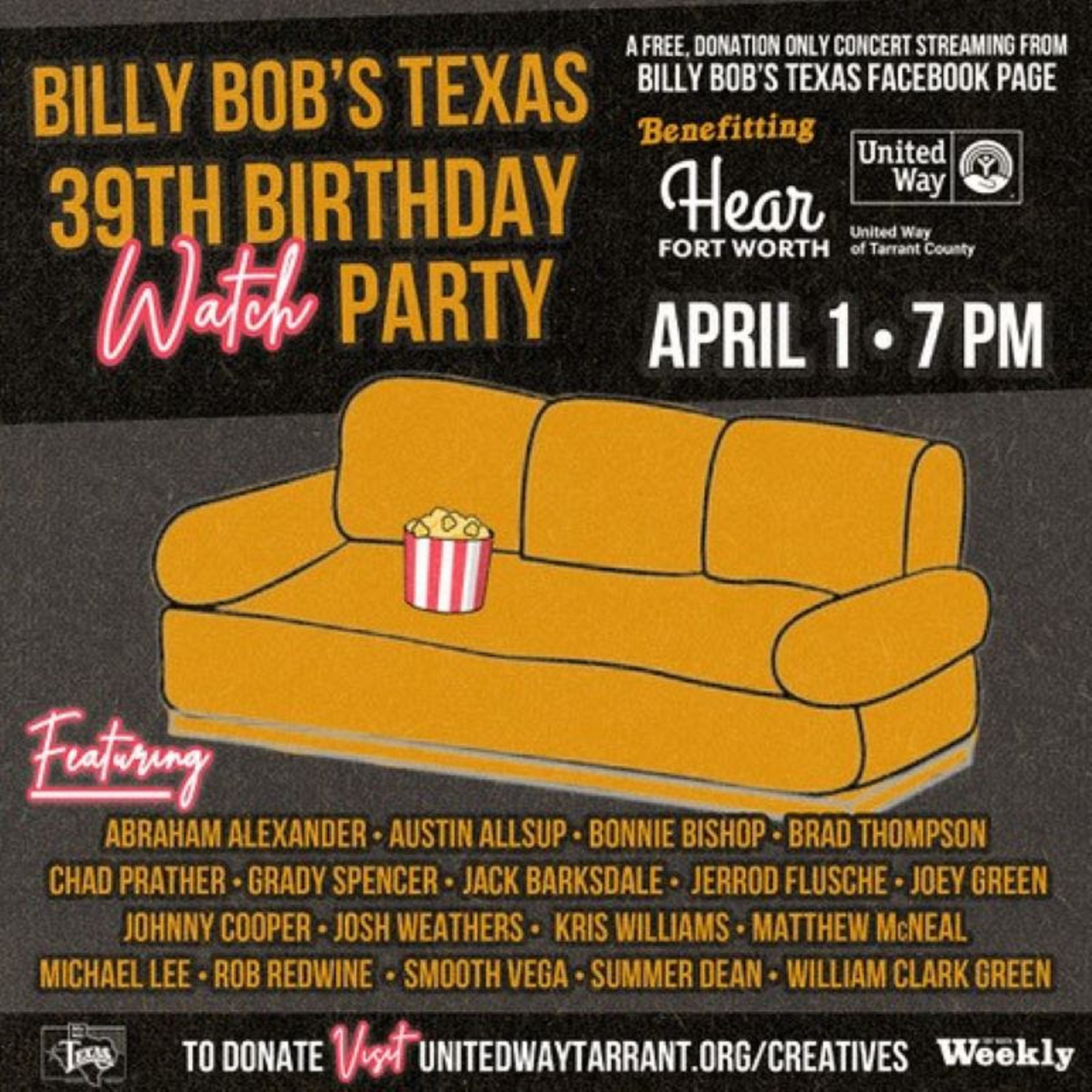 Billy Bob's Texas Hosts Live Watch Party To Celebrate Its 39th Anniversary