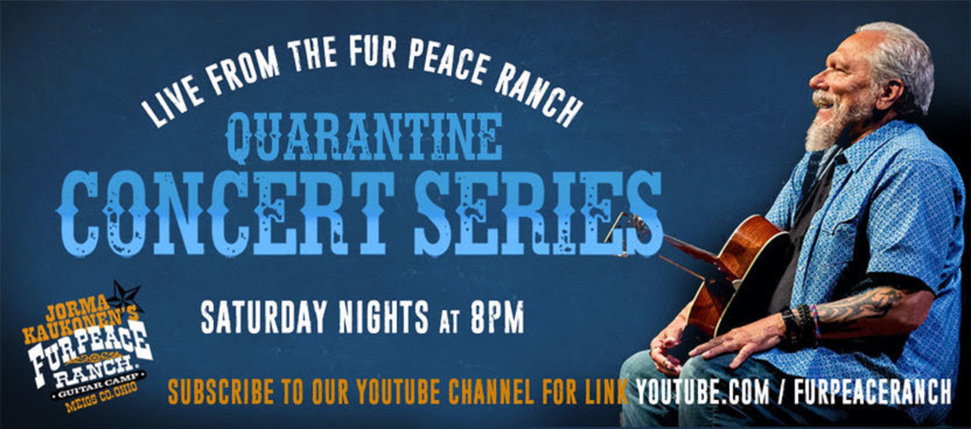 Celebrating the One-Year Anniversary of Jorma Kaukonen's Free Quarantine Concerts broadcast live from the Fur Peace Ranch