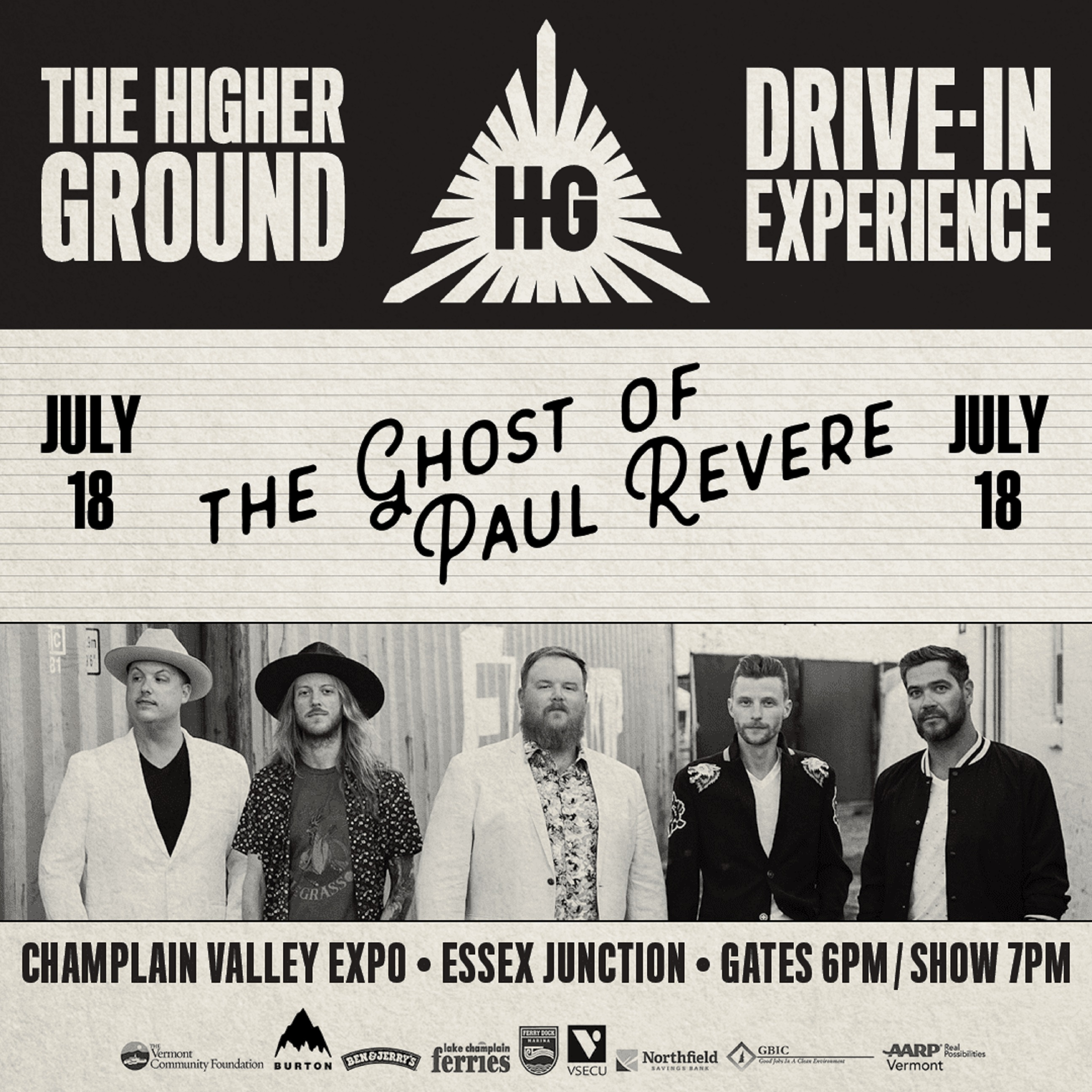 The Ghost of Paul Revere 7/18 at the HG Drive-In Experience