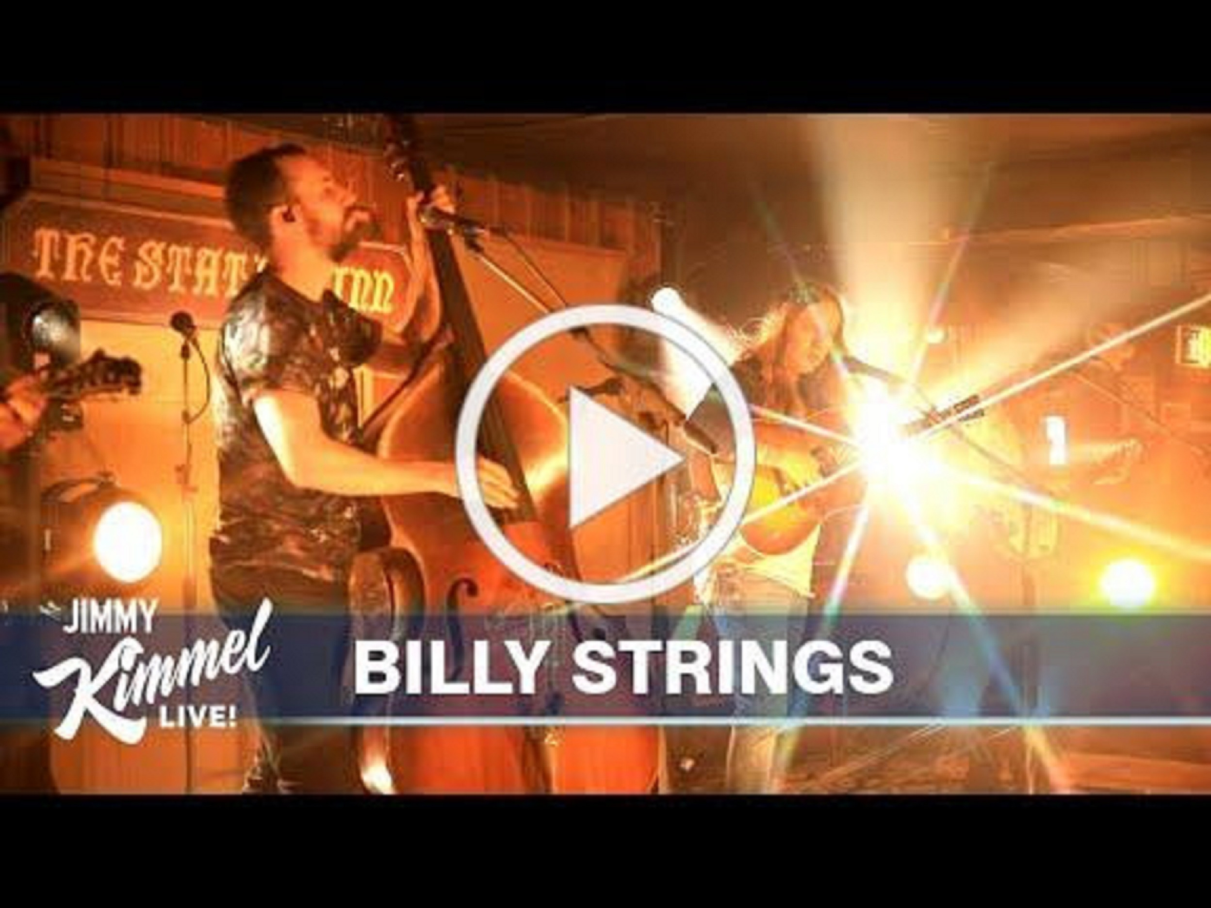 Billy Strings performed on Jimmy Kimmel Live! last night