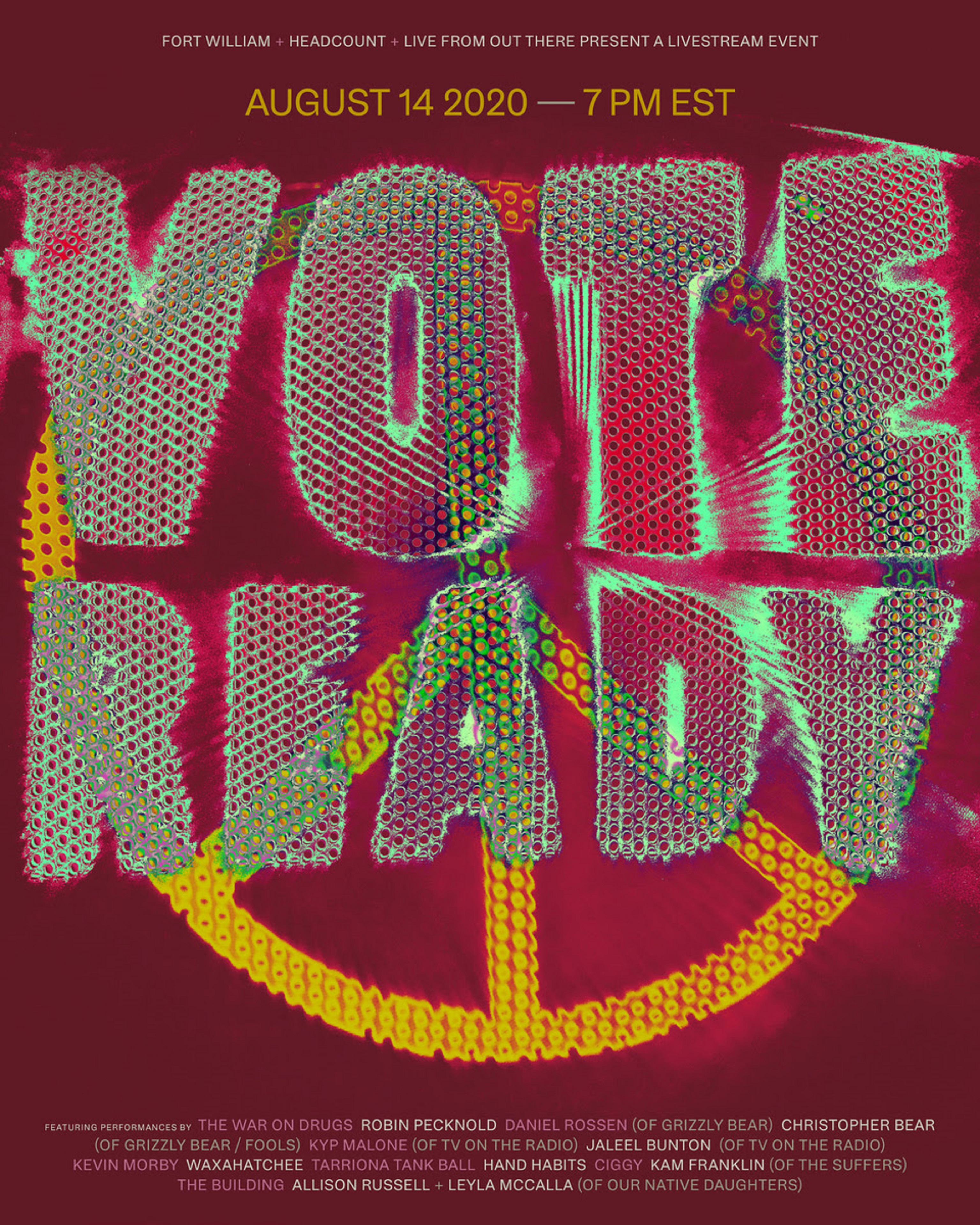 VOTE READY Concert for Voter Registration on Aug 14