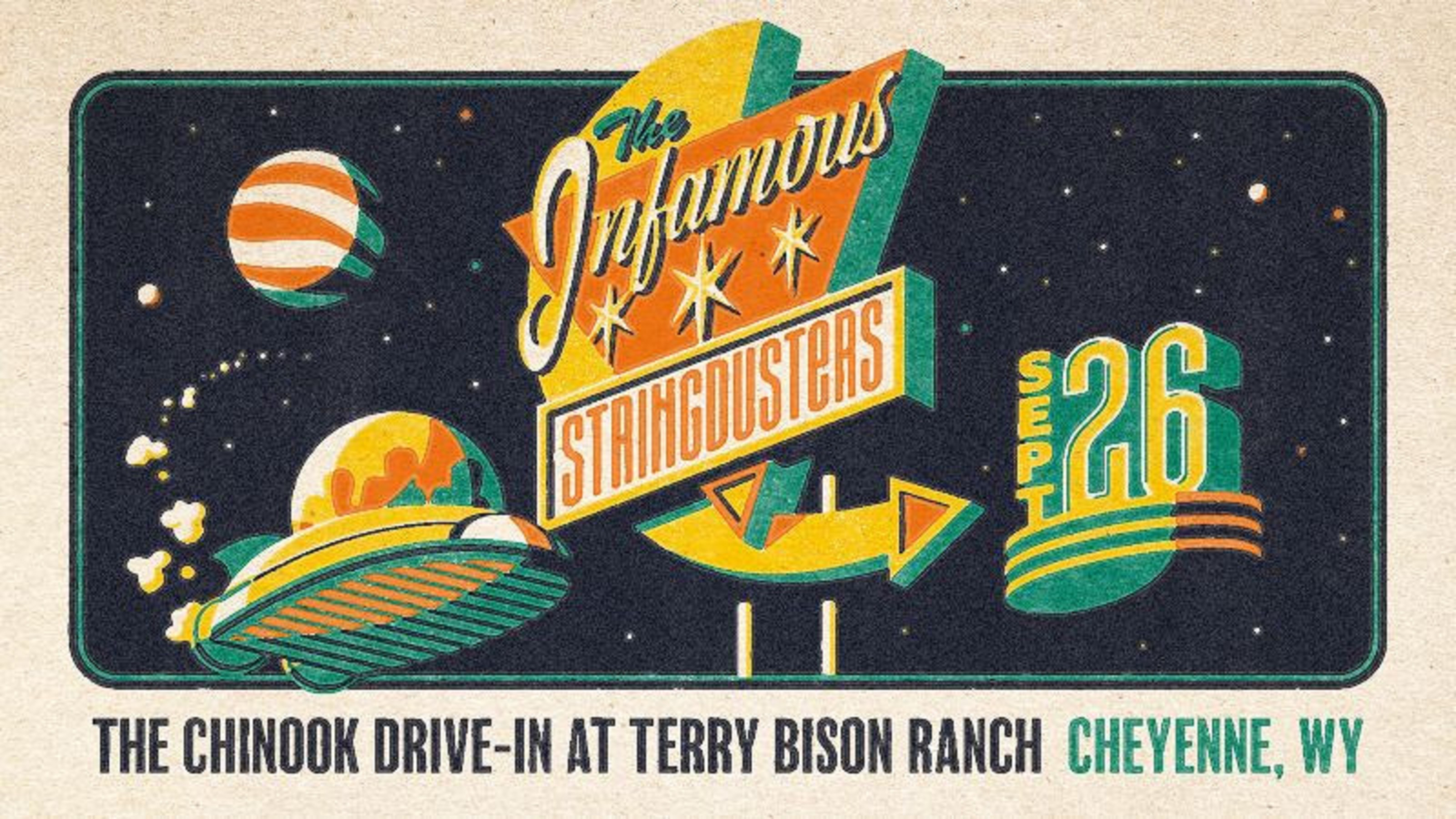 The Infamous Stringdusters at Chinook Drive-In at Terry Bison Ranch 9/2