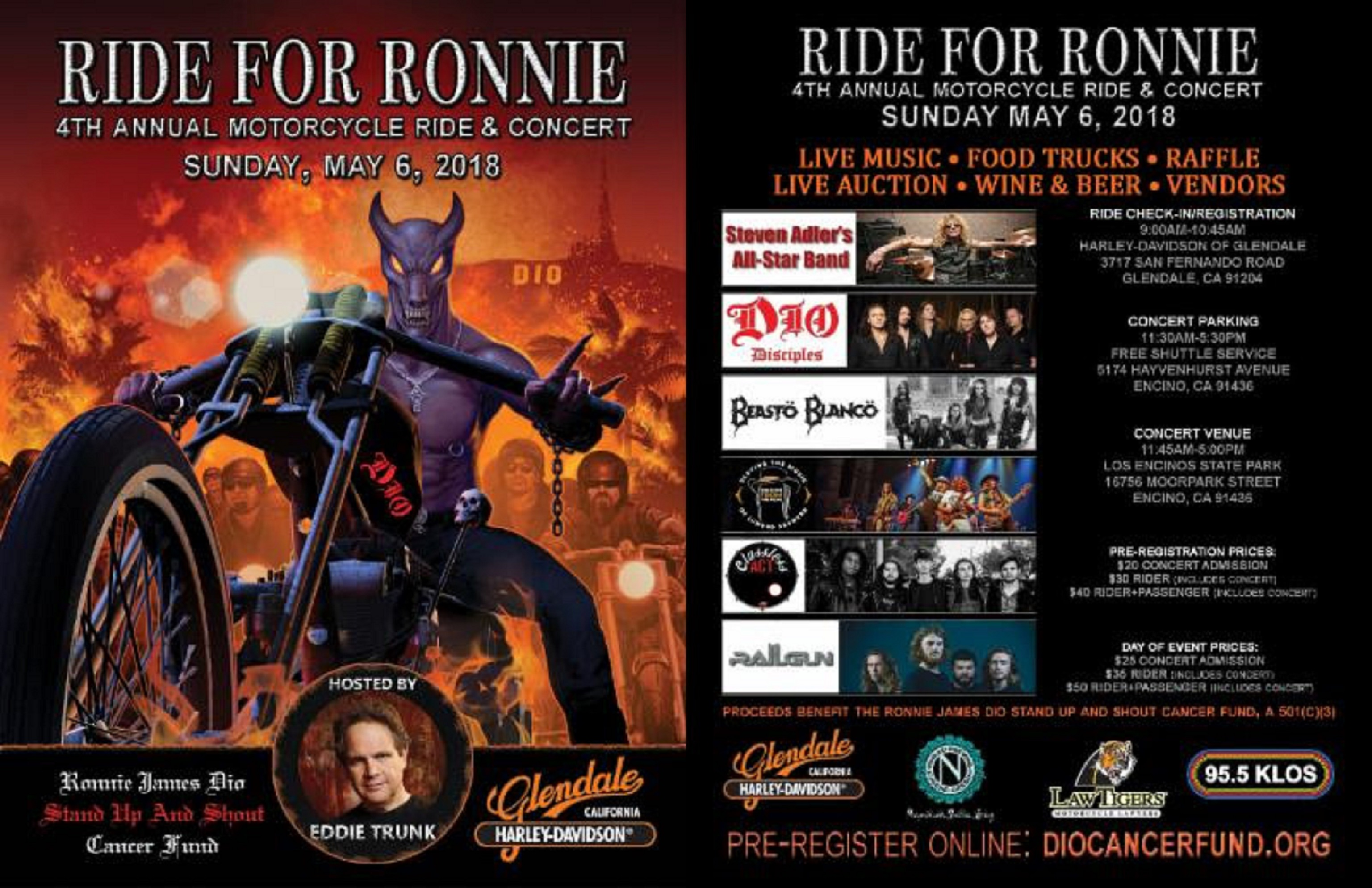 4th Annual 'Ride for Ronnie' Motorcycle Ride and Concert Benefiting the Dio Cancer Fund