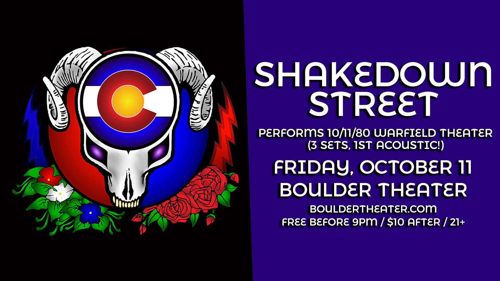 Shakedown Street | Boulder Theater | 10/11/19 | Preview