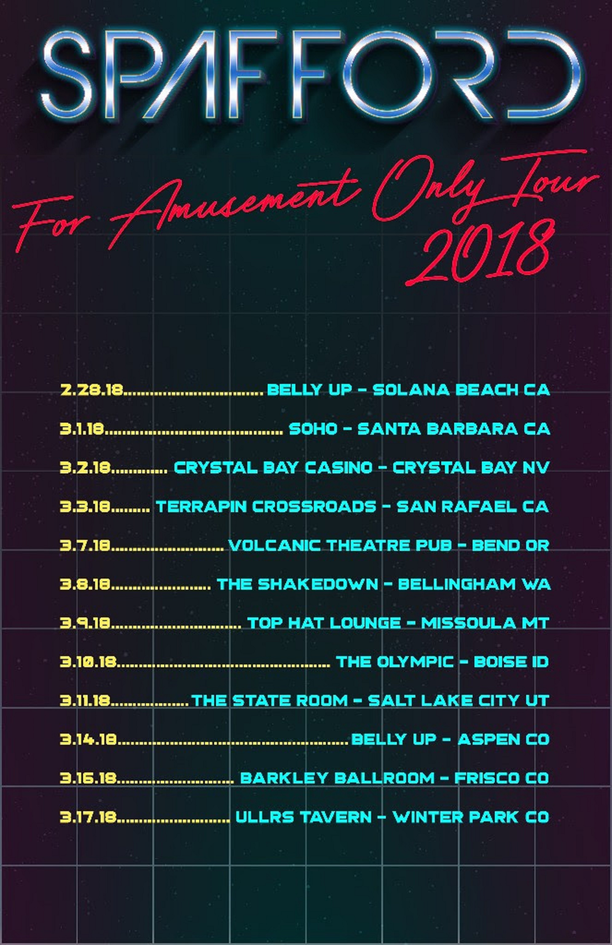 Spafford Adds Additional Dates To 'For Amusement Only' Winter 2018 Tour