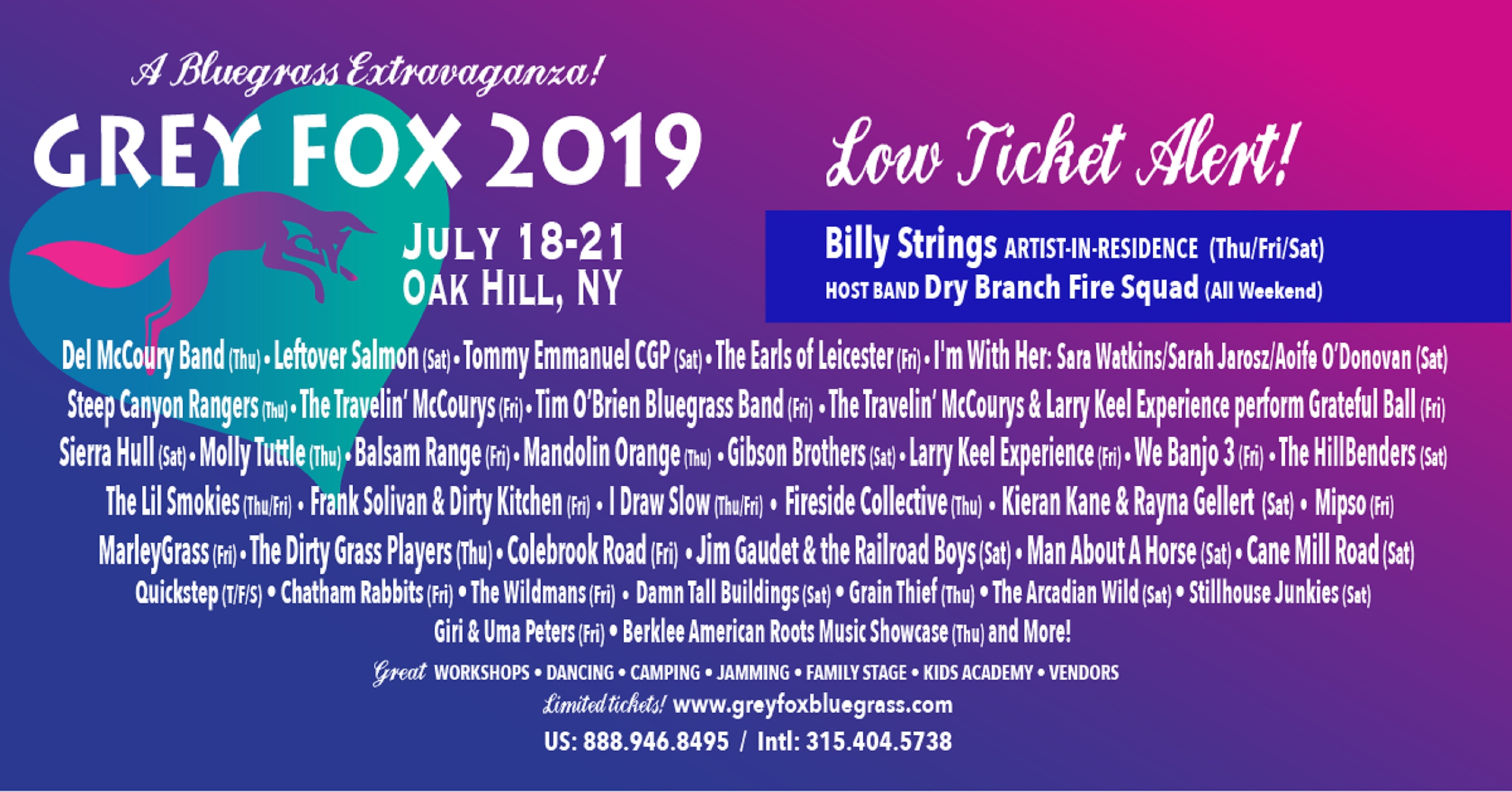 Grey Fox Bluegrass Festival Celebrates 35 Years of Magnificent Music