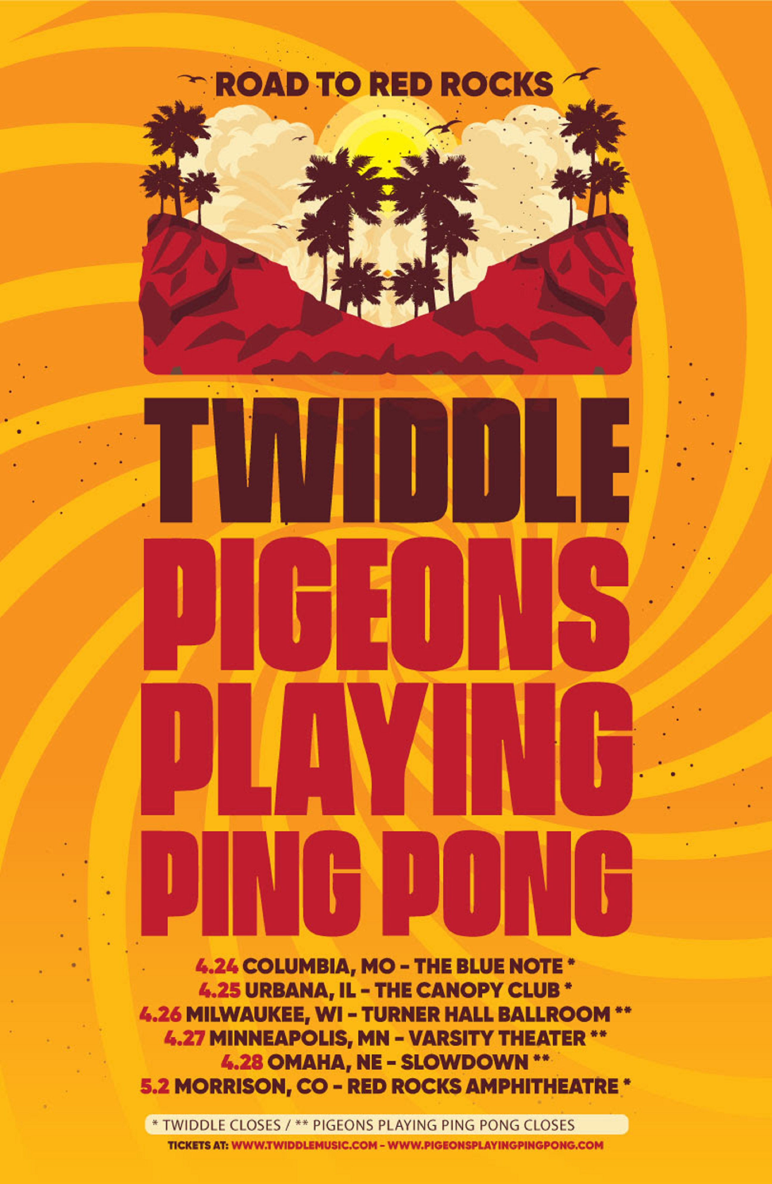 "Twiddle & Pigeons Playing Ping Pong Share ""Road To Red Rocks"" Dates"