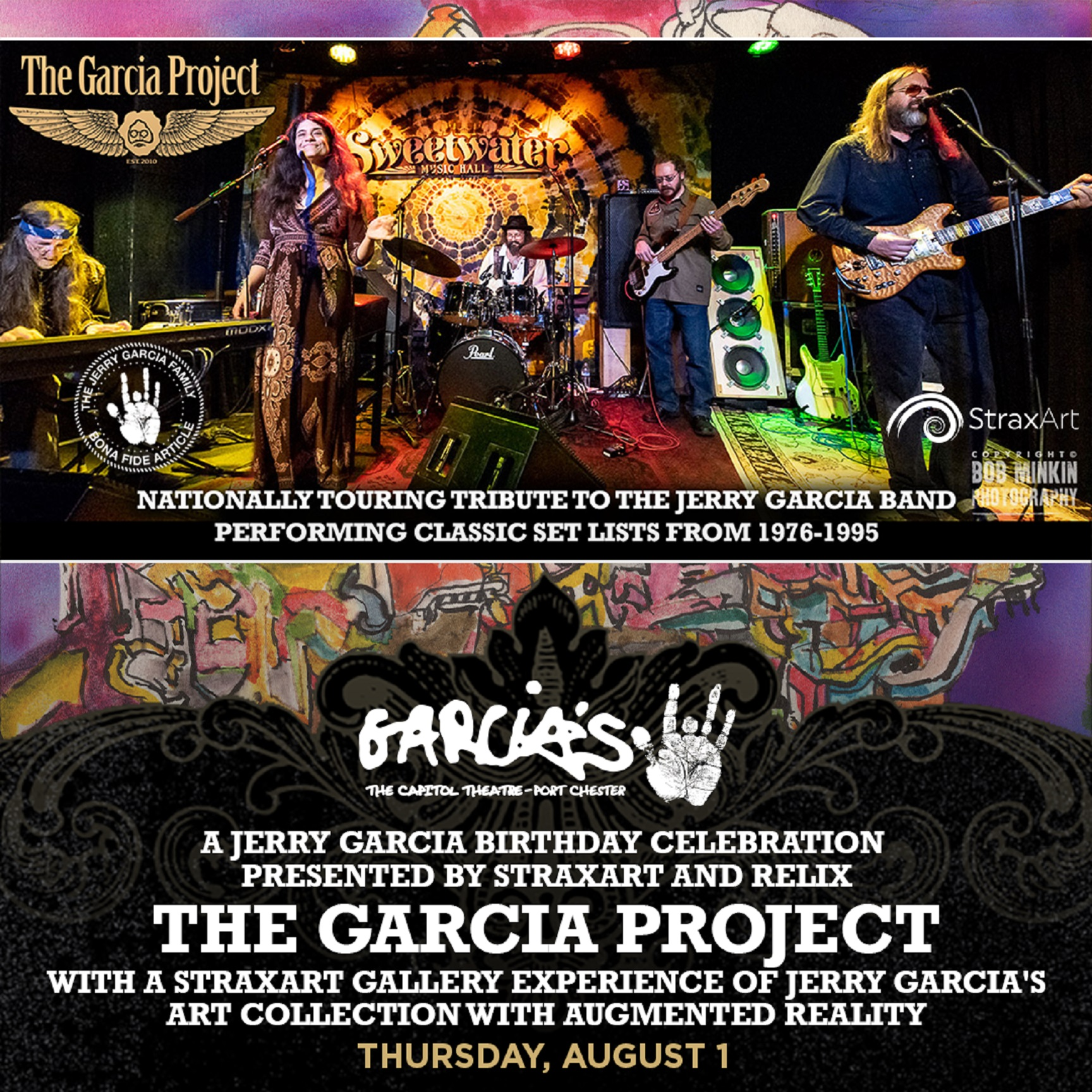 Jerry Garcia Birthday Celebration at Garcia's on August 1