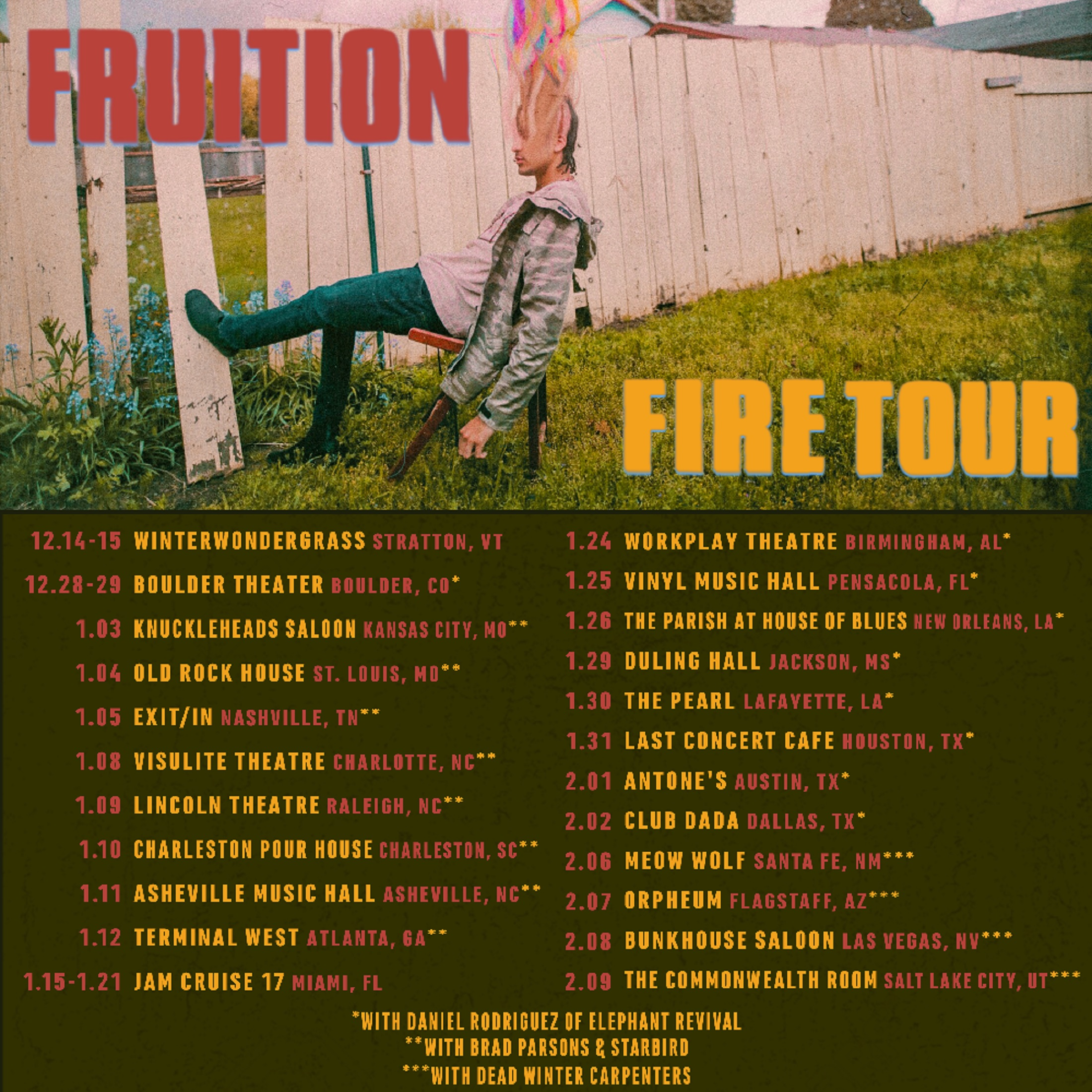 Fruition Announce additional 2019 dates!