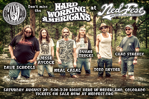 Hard Working Americans to Perform at NedFest 2015